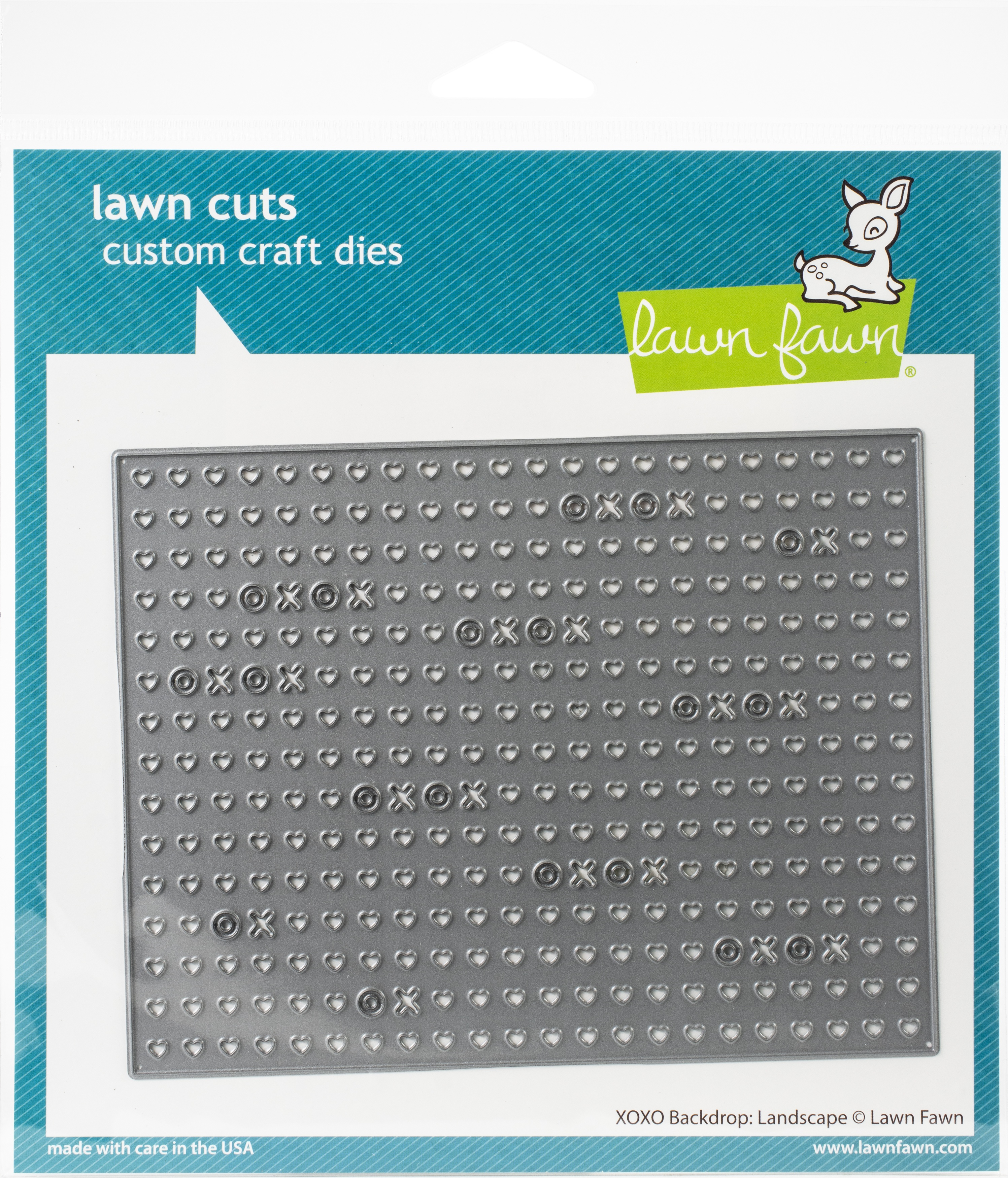 Lawn Cuts Custom Craft Die -XOXO Backdrop: Landscape