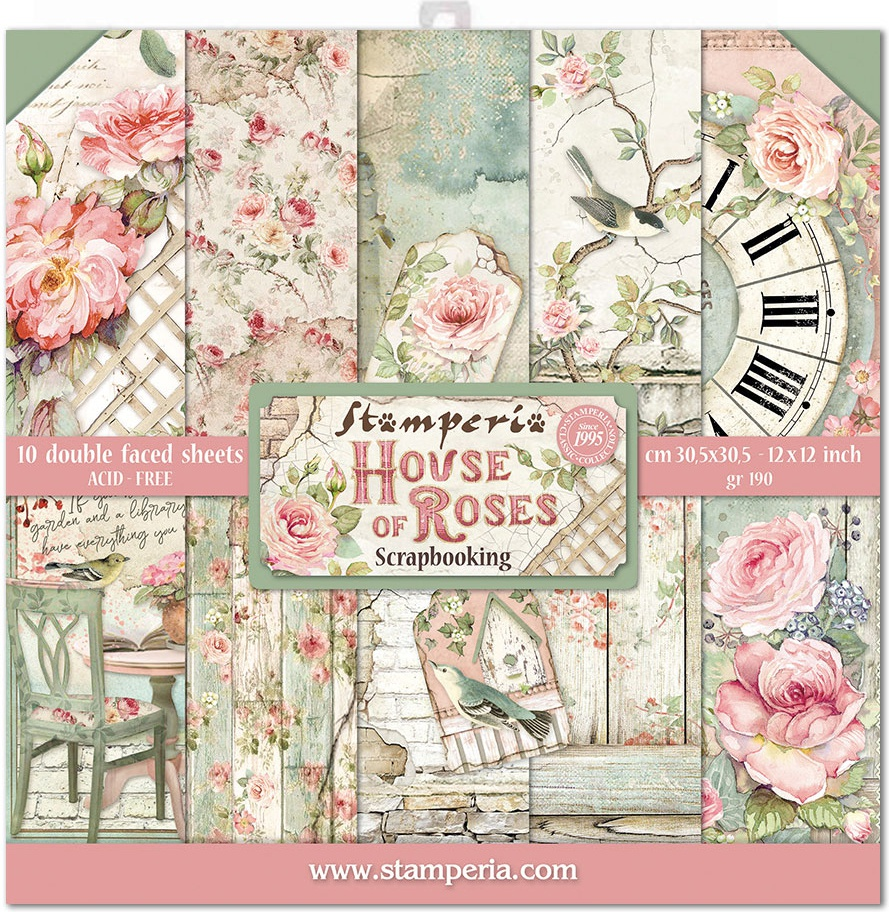 House Of Roses Paper Pad 12X12