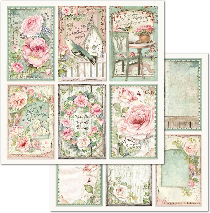 Stamperia Double-Sided Cardstock 12X12-Frames House Of Roses