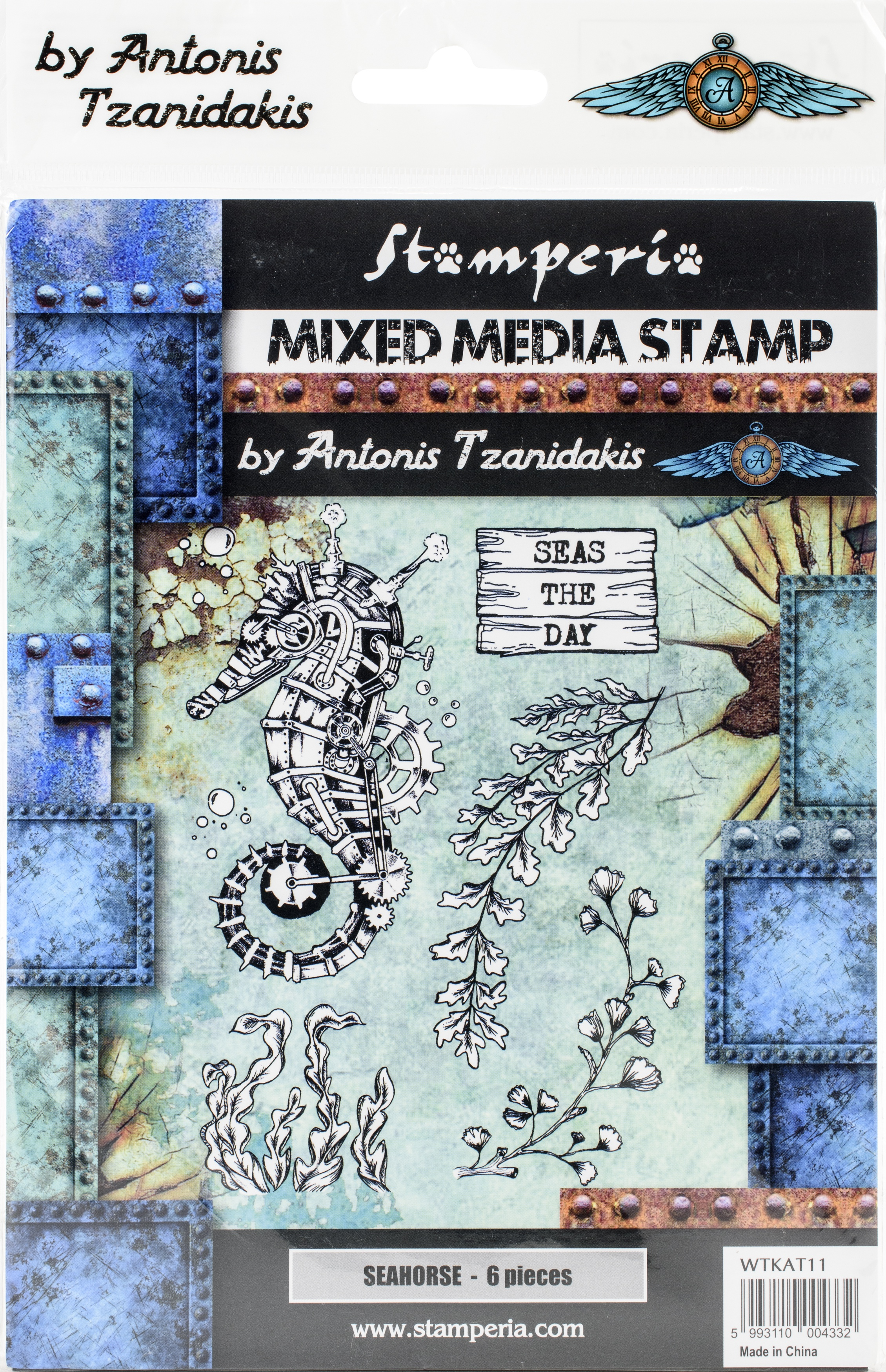Stamperia Cling Stamp 5.90X7.87-Seahorse