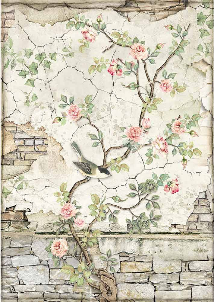 Stamperia Rice Paper Sheet A4-Little Bird On Branch