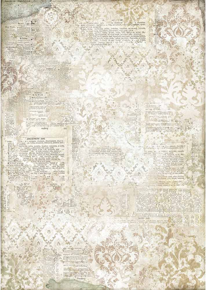 Stamperia Rice Paper Sheet A3-Stencil On Dictionary