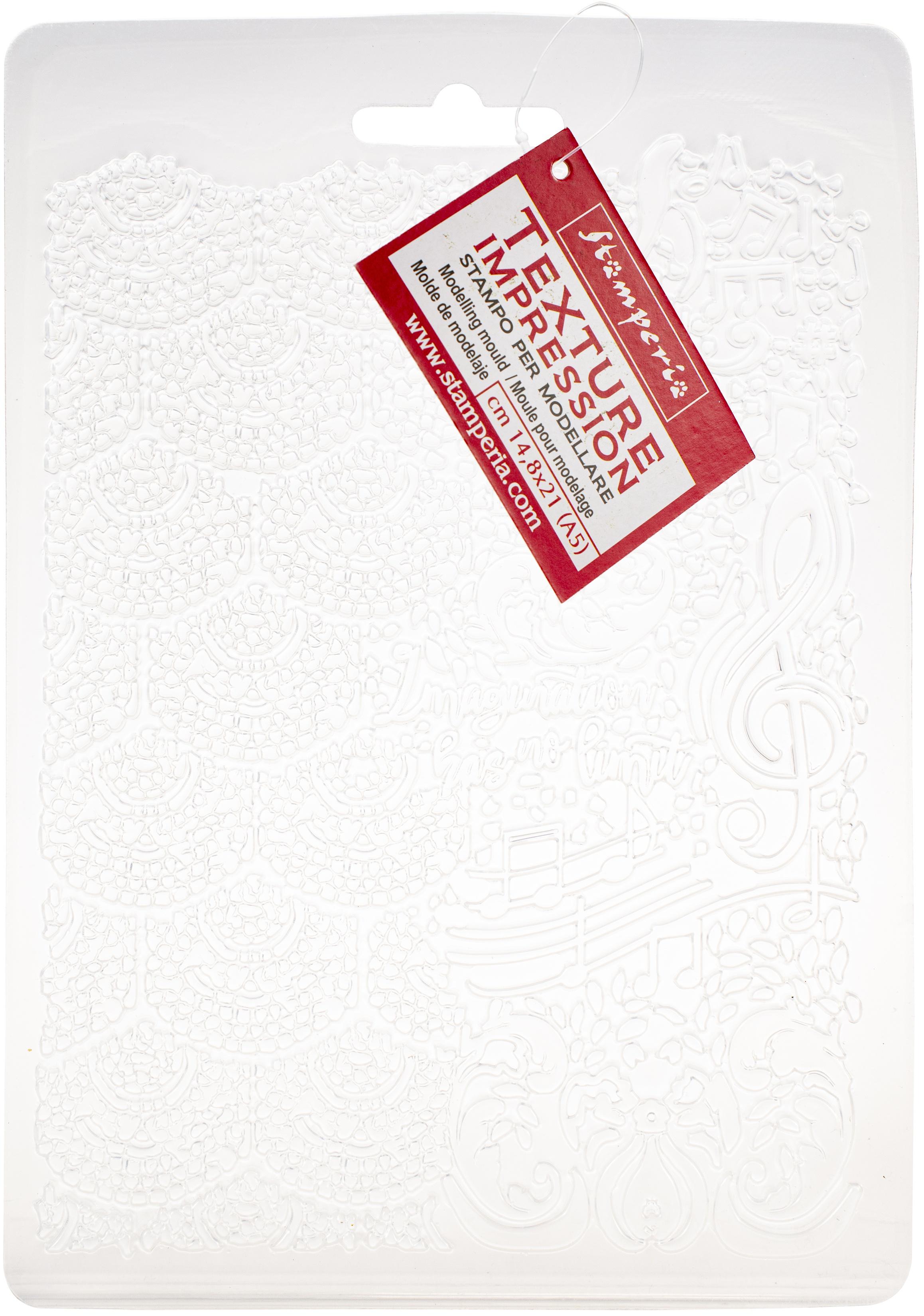 Stamperia Soft Maxi Mould A5-Music