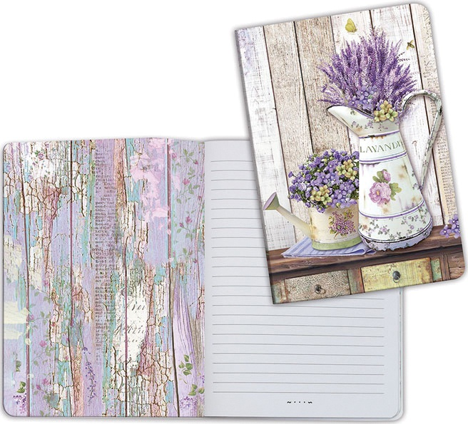 Stamperia Lined Notebook A5-Watering Can
