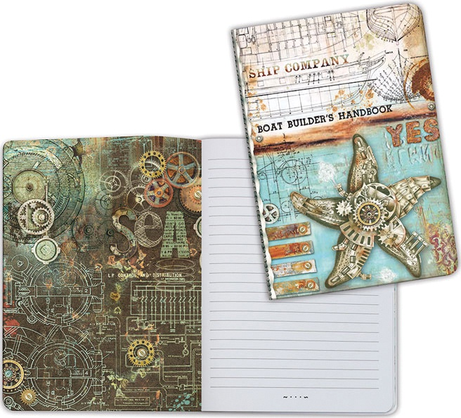 Stamperia Lined Notebook A6-Sea Star