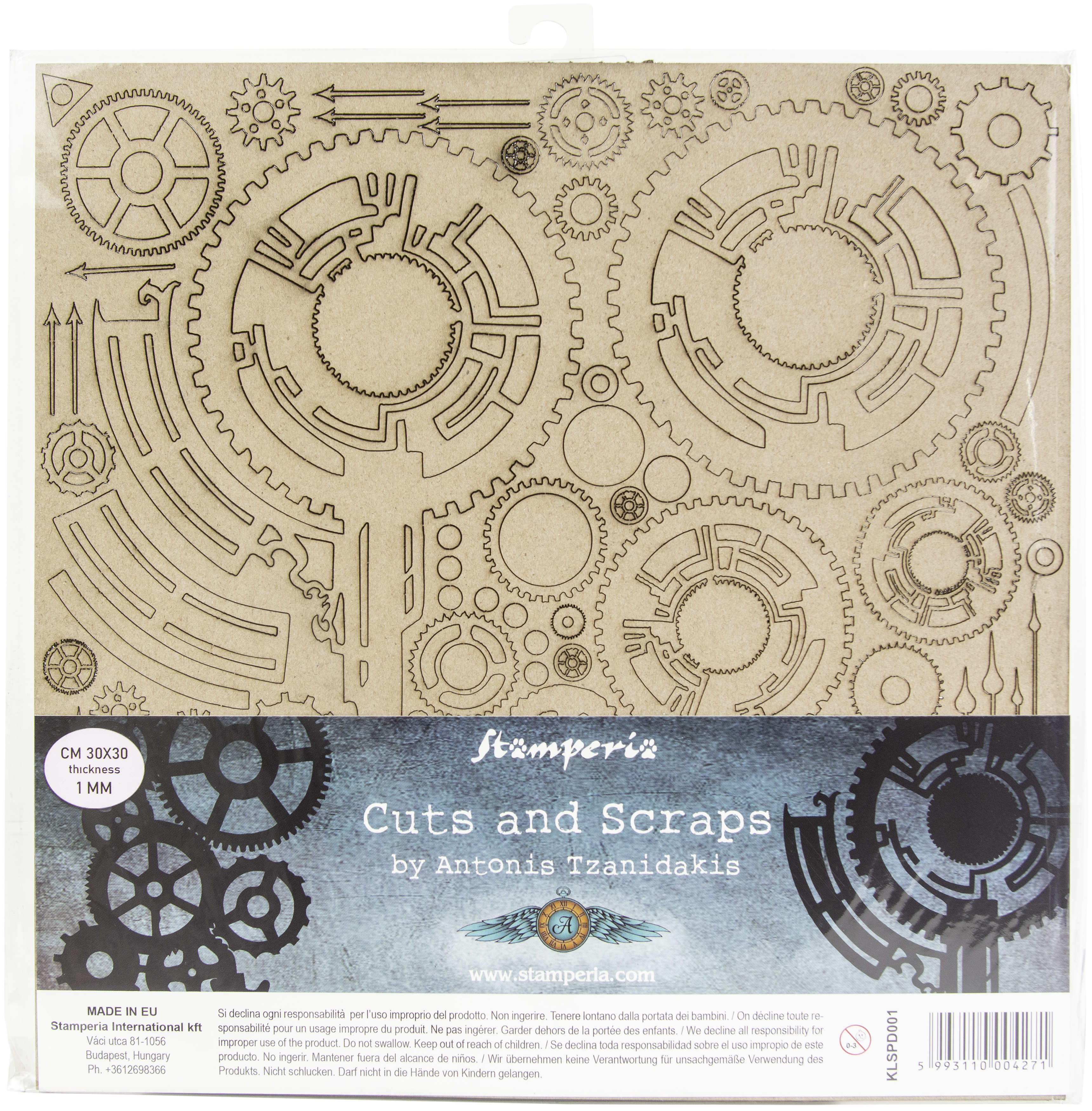 Stamperia Greyboard Cut-Outs 11.8X11.8 1mm Thick-Clock & Hands