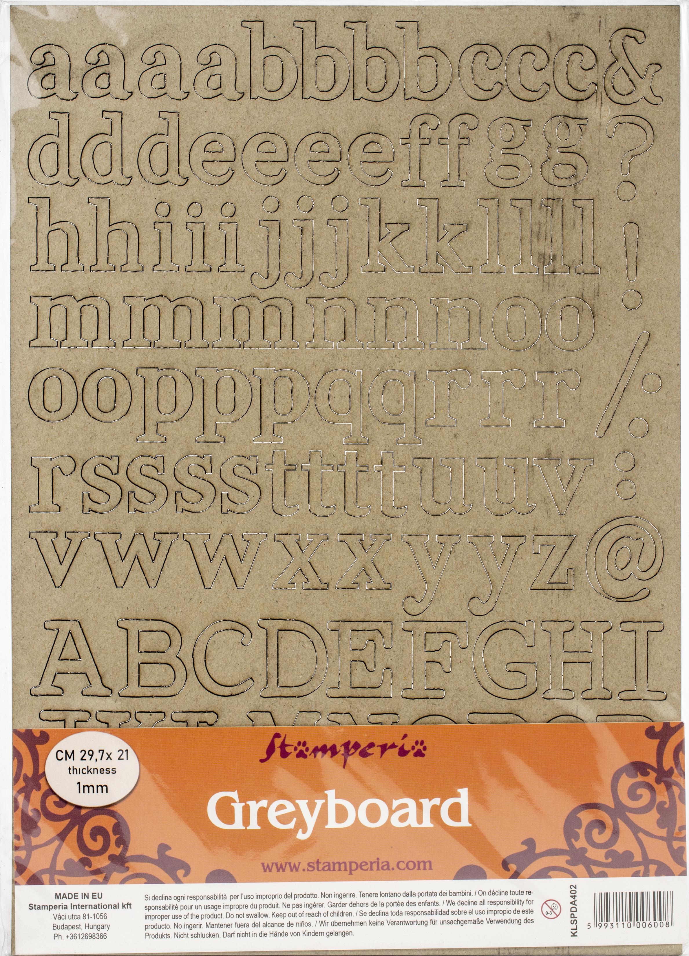 Alphabet Chipboard
