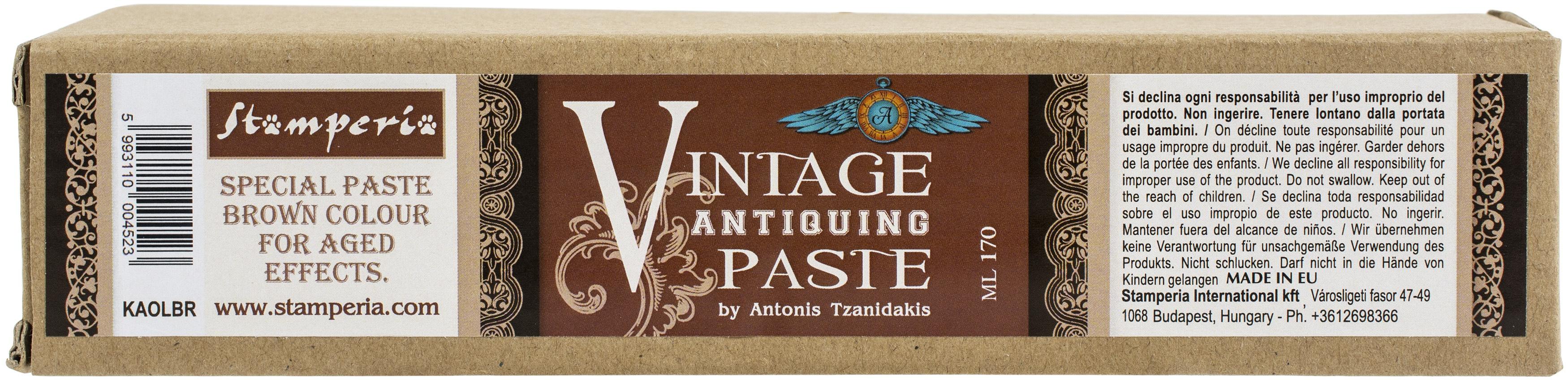 Stamperia Vintage Antiquing Paste Tube 170ml-Brown