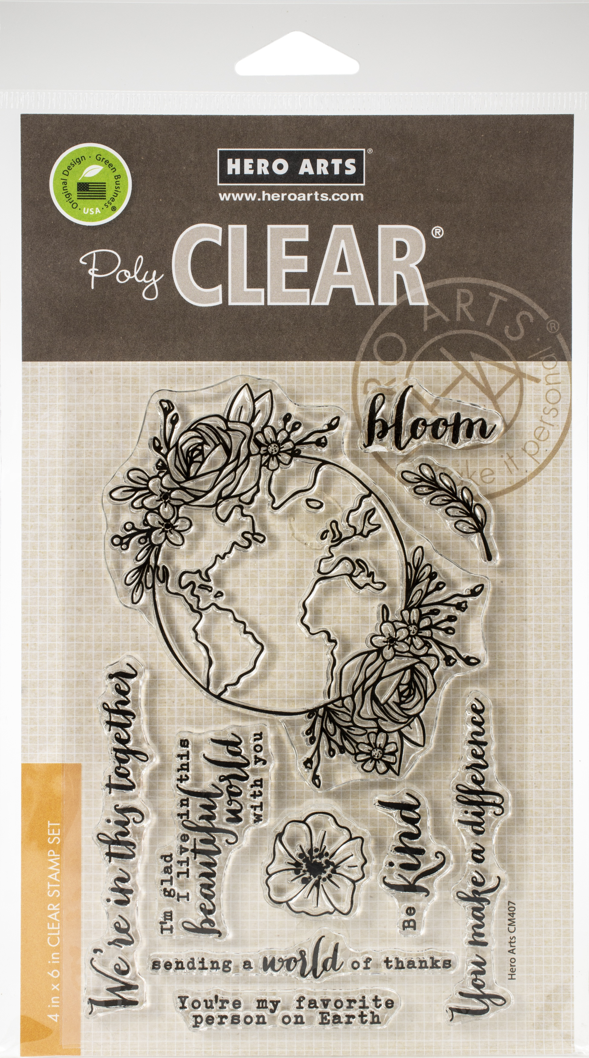 Hero Arts Clear Stamps 4X6-Beautiful World