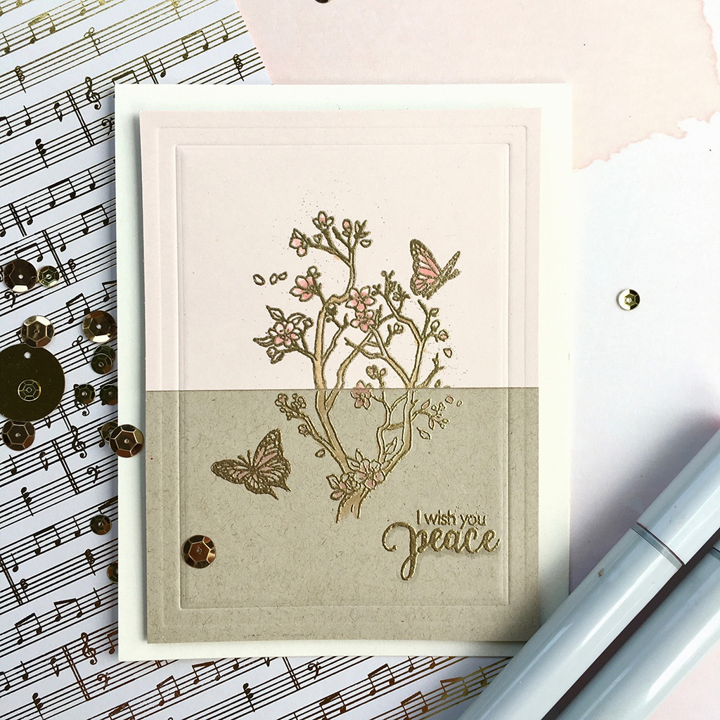 Hero Arts Clear Stamps 4X6-Staggering Branches