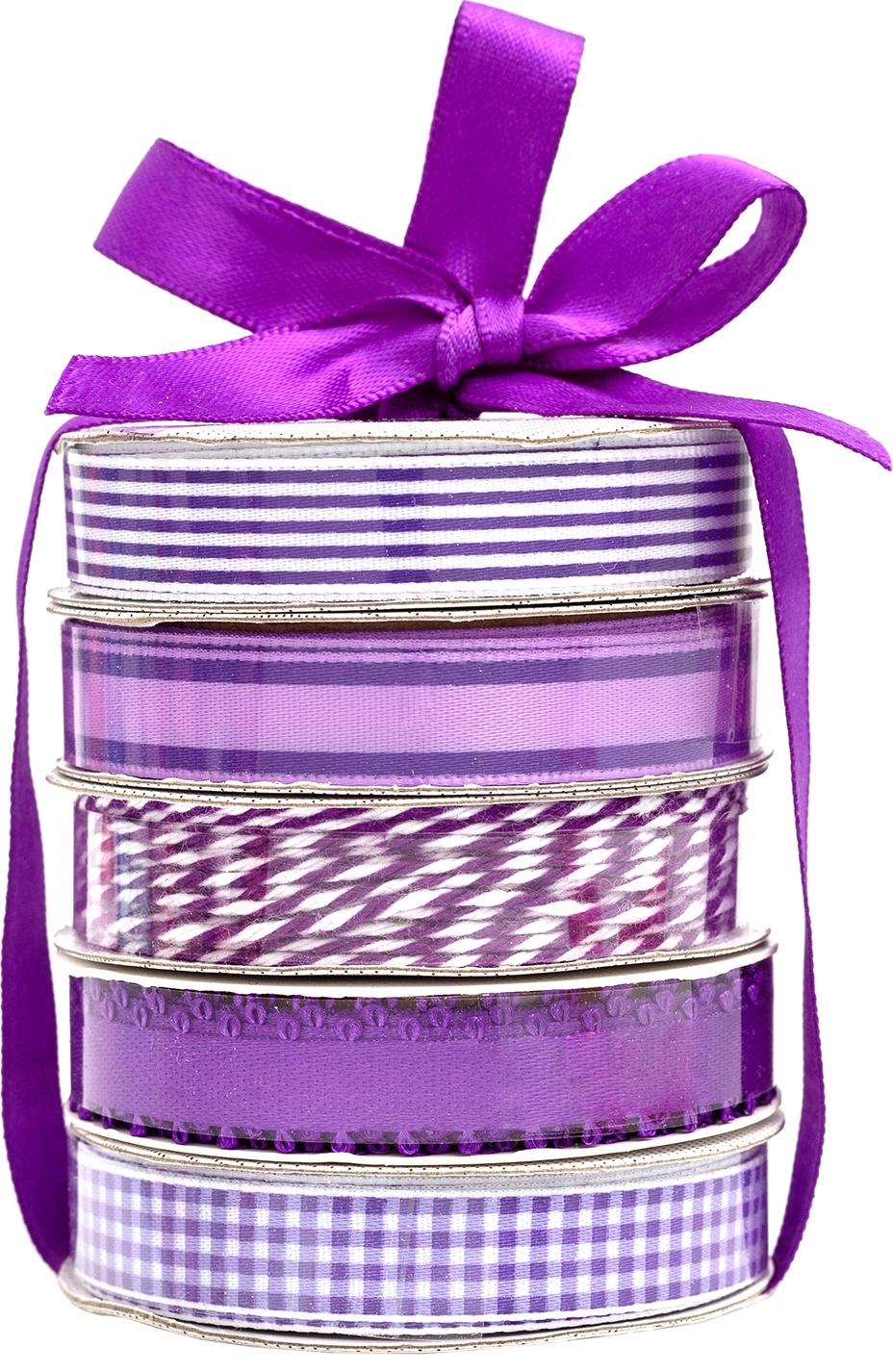 American Crafts Premium Ribbon & Twine 5/Pkg-Purple