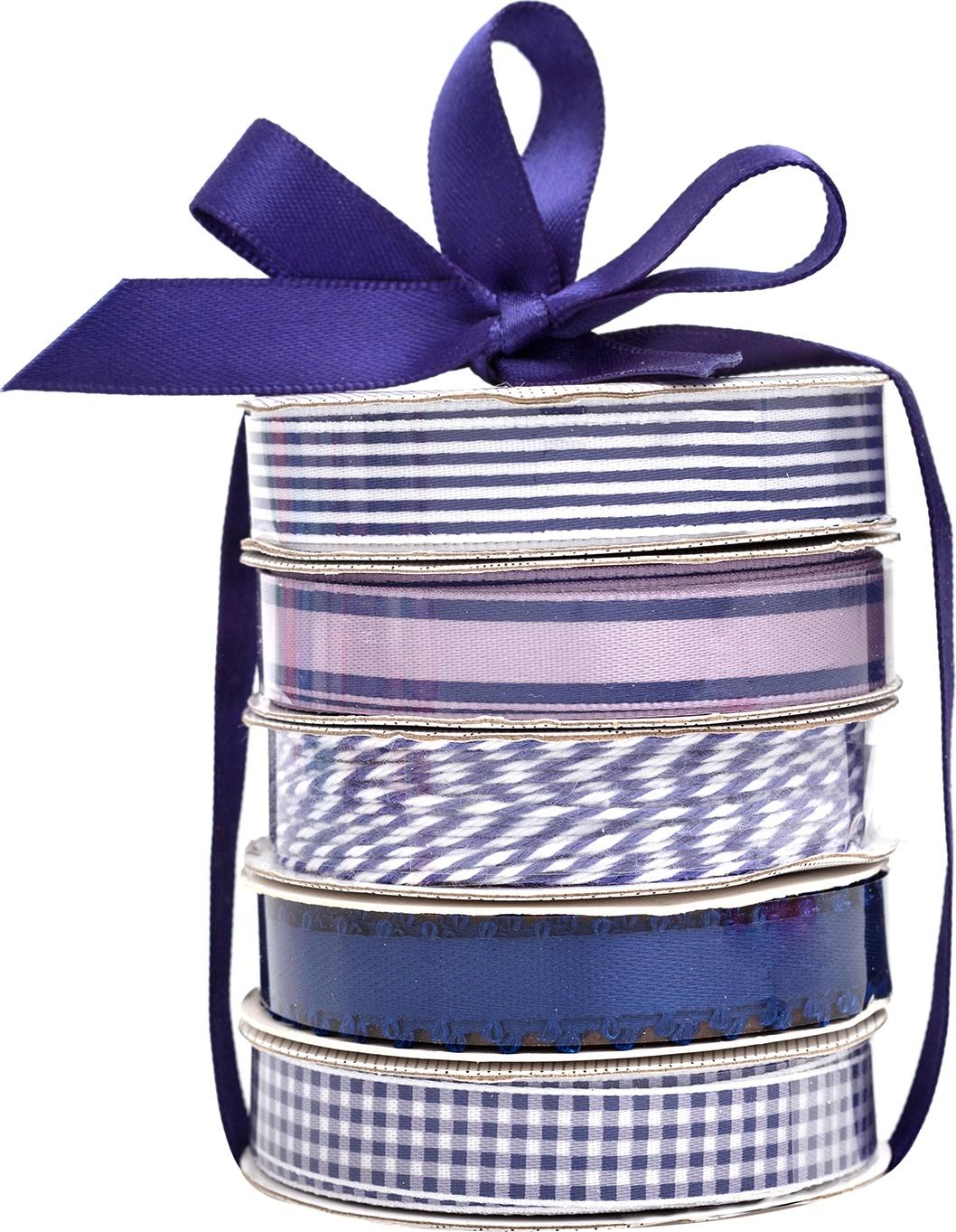 American Crafts Premium Ribbon & Twine 5/Pkg-Navy