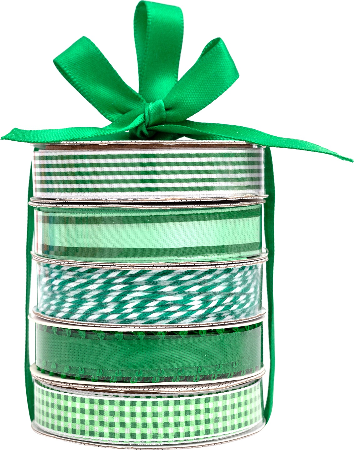 American Crafts Premium Ribbon & Twine 5/Pkg-Green