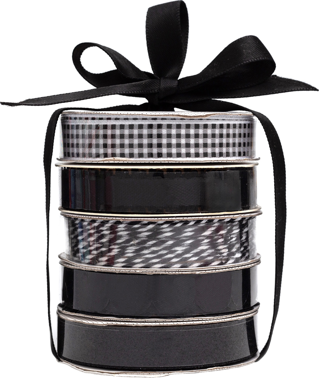 American Crafts Premium Ribbon & Twine 5/Pkg-Black