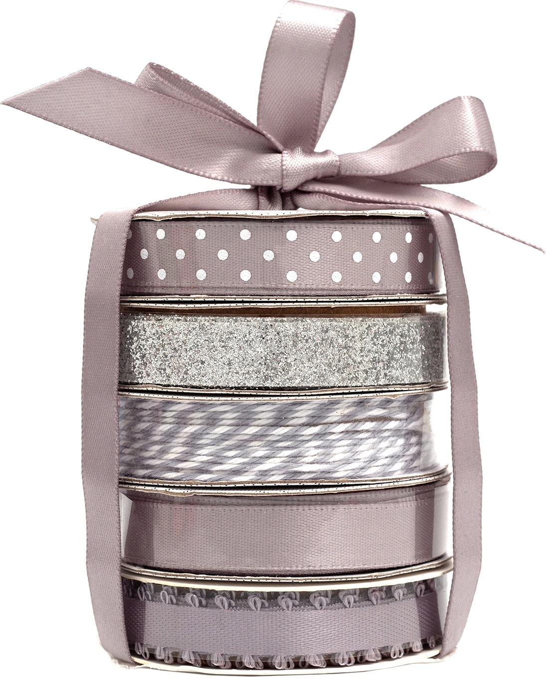 American Crafts Premium Ribbon & Twine 5/Pkg-Silver