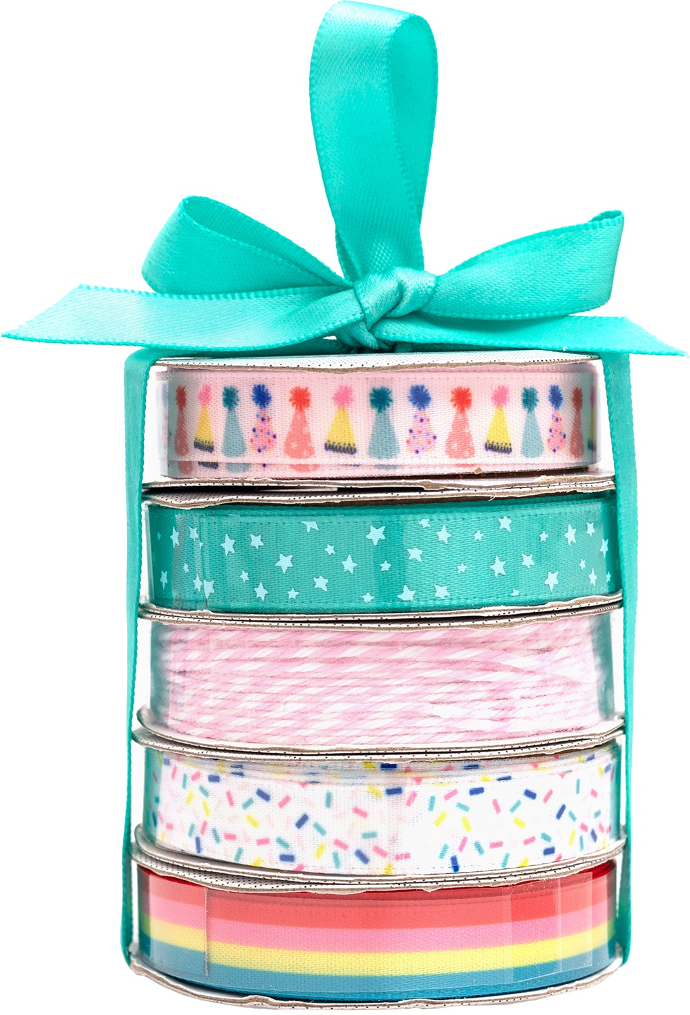 American Crafts Premium Ribbon & Twine 5/Pkg-Birthday