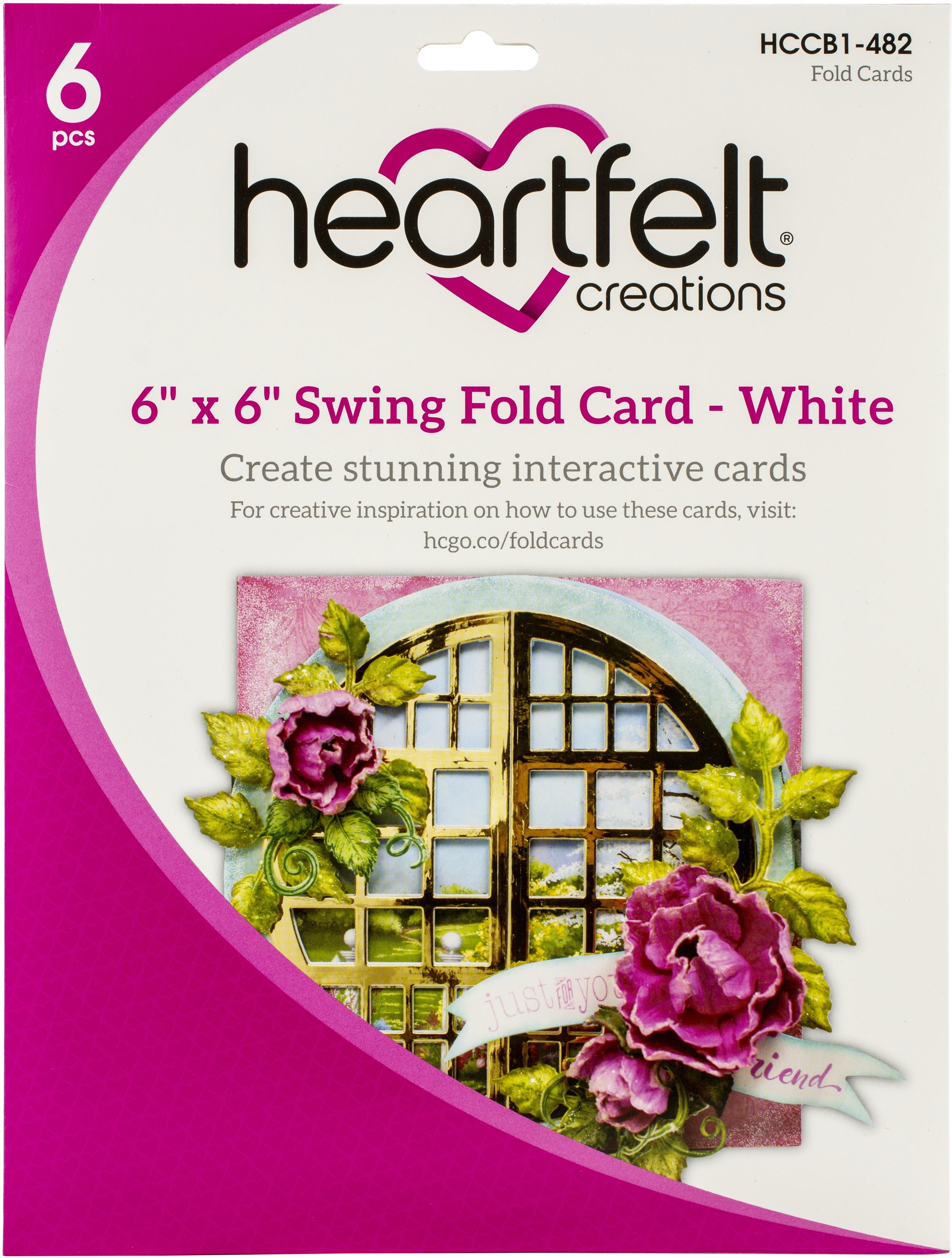 6 x 6 Swing Fold Card - White