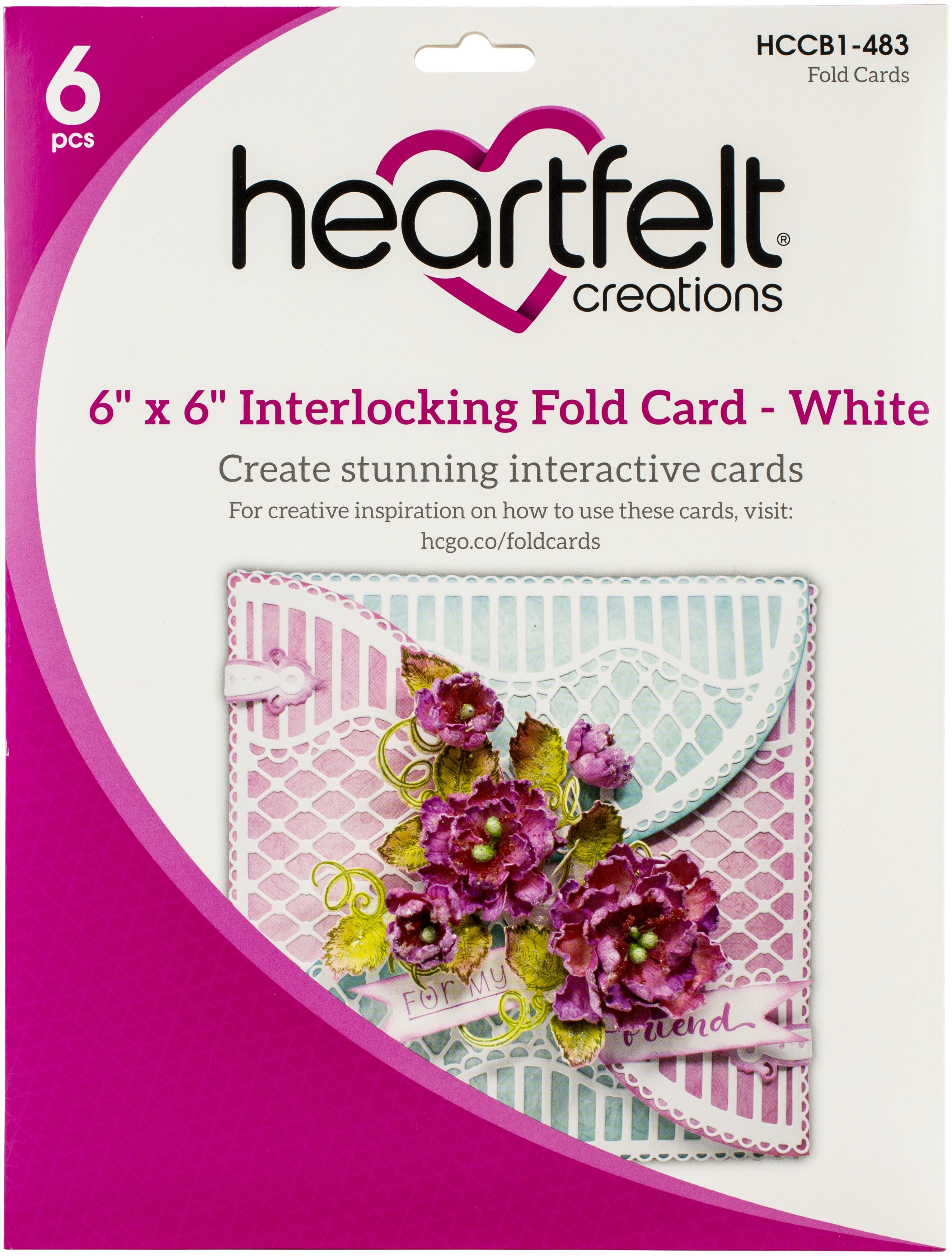 6 x 6 Interlock Fold Card - Wh