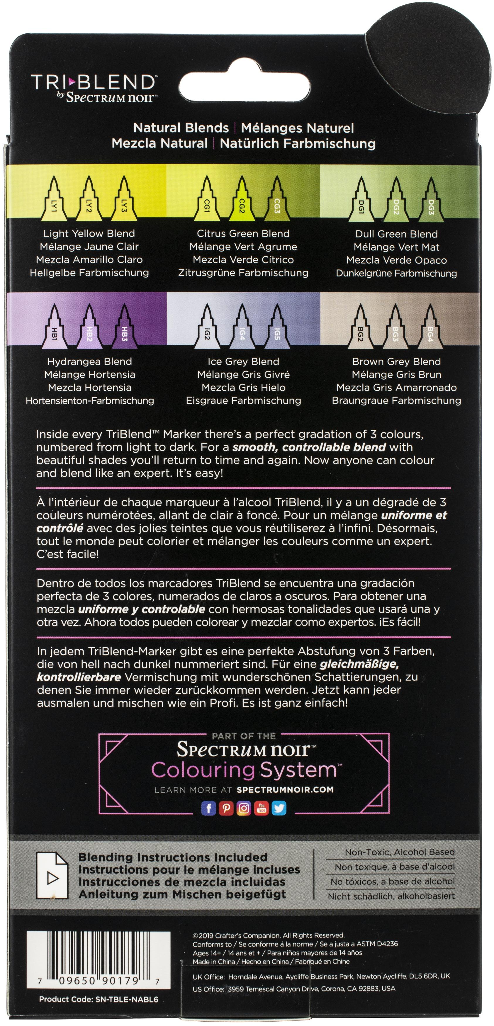 Tri-blend Spectrum Noir 6 Pack - Natural Blends