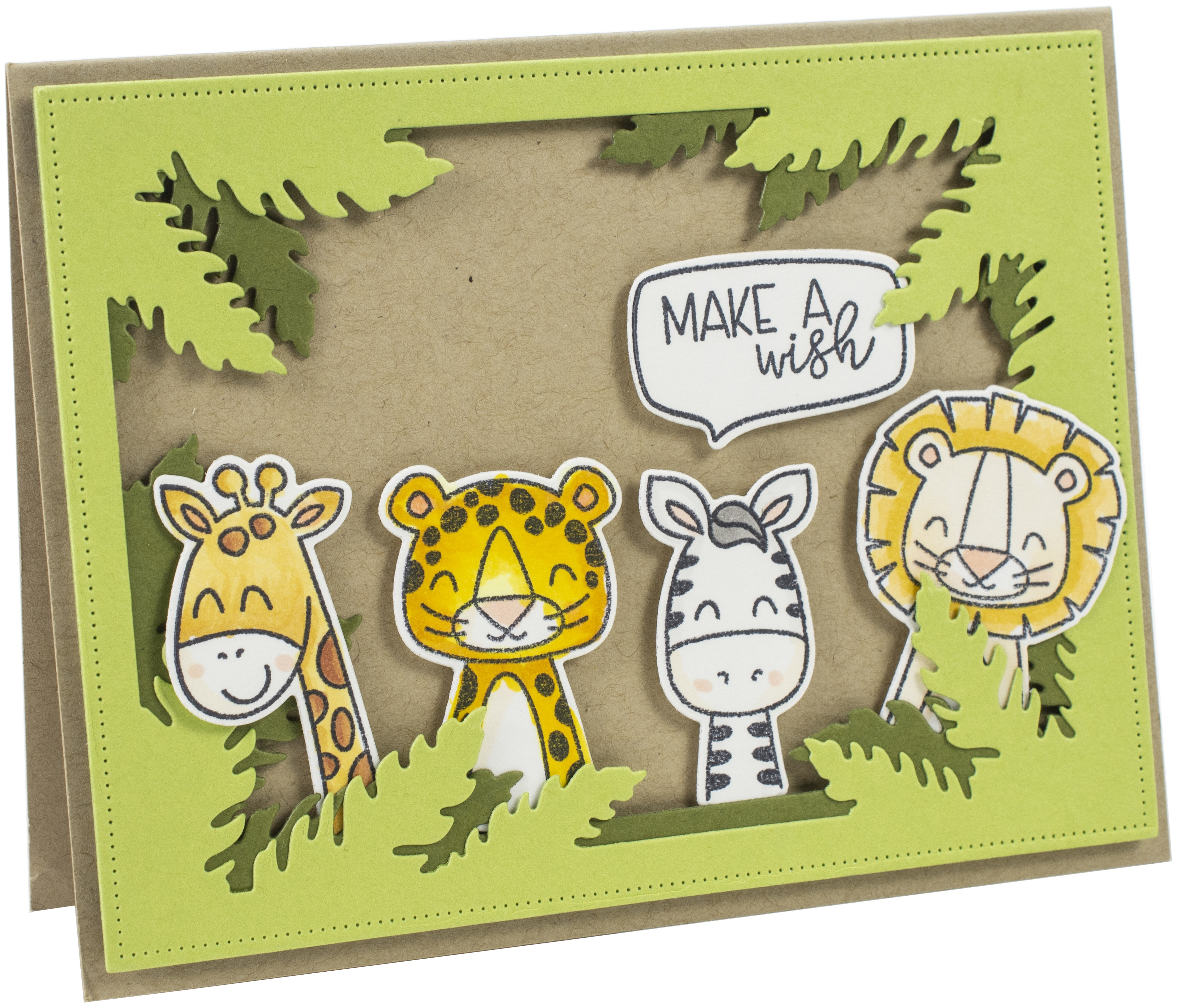 Avery Elle Clear Stamp Set 4X6-Peek-A-Boo Jungle
