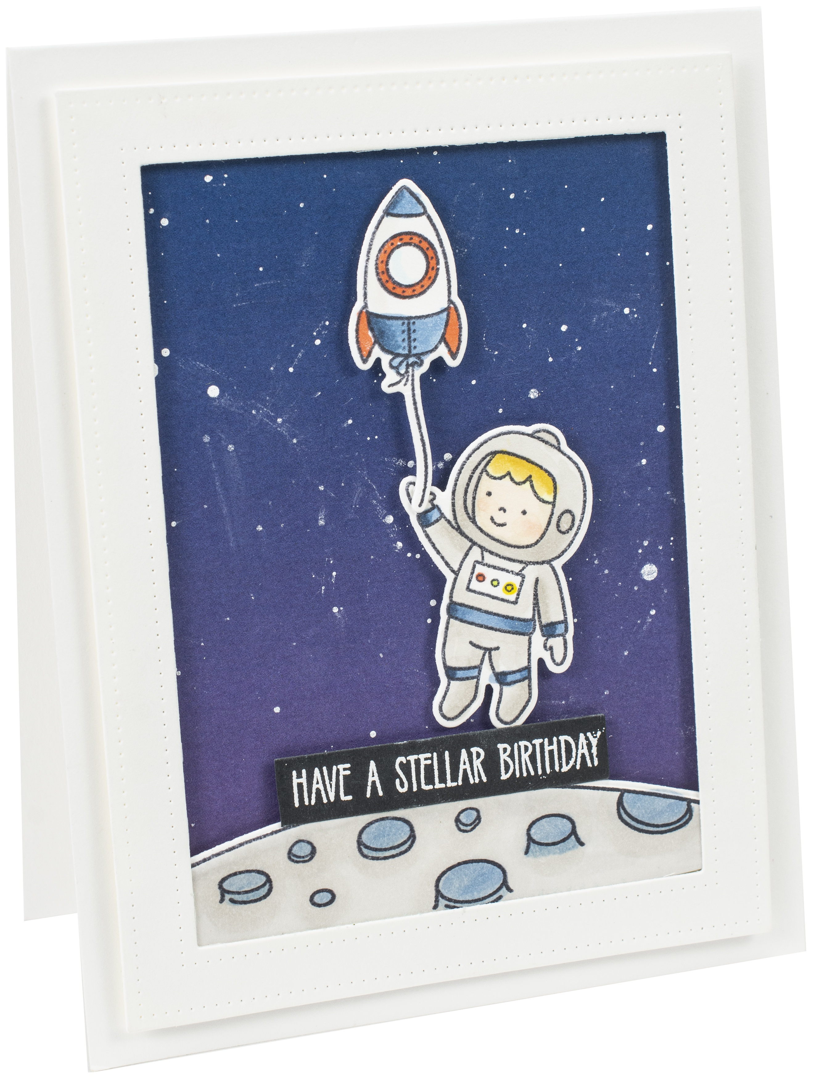 Avery Elle Clear Stamp Set 4X6-Astronauts