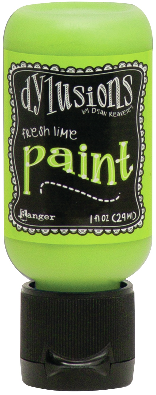 Dylusions Acrylic Paint 1oz-Fresh Lime