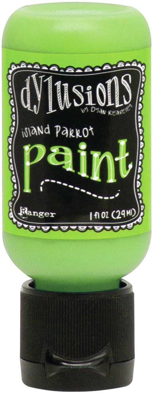 Dylusions Acrylic Paint 1oz-Island Parrot