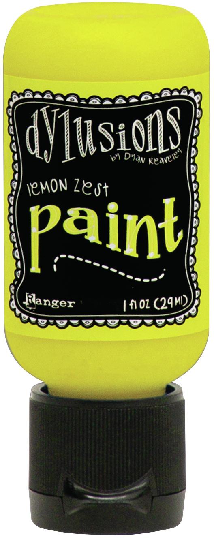 Dylusions Acrylic Paint 1oz-Lemon Zest