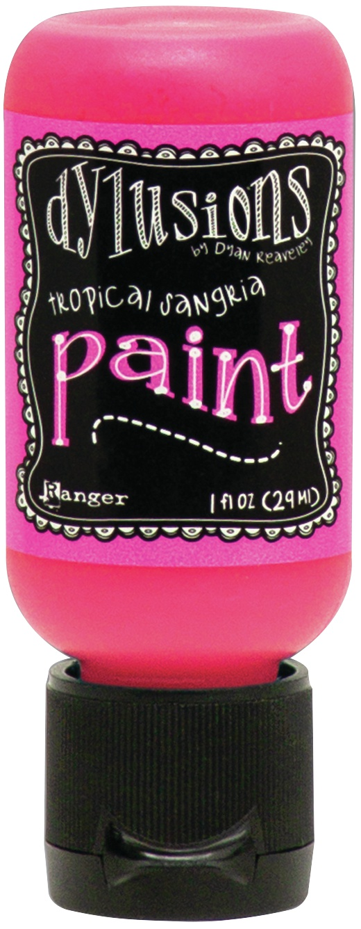 Dylusions Acrylic Paint 1oz-Tropical Sangria