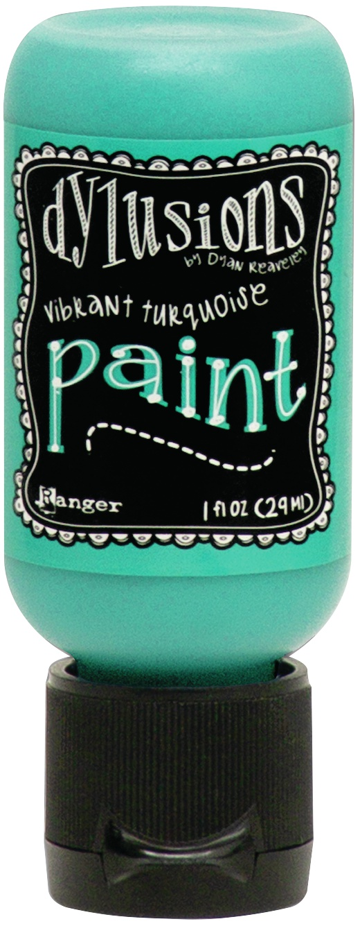 Dylusions Acrylic Paint 1oz-Vibrant Turquoise