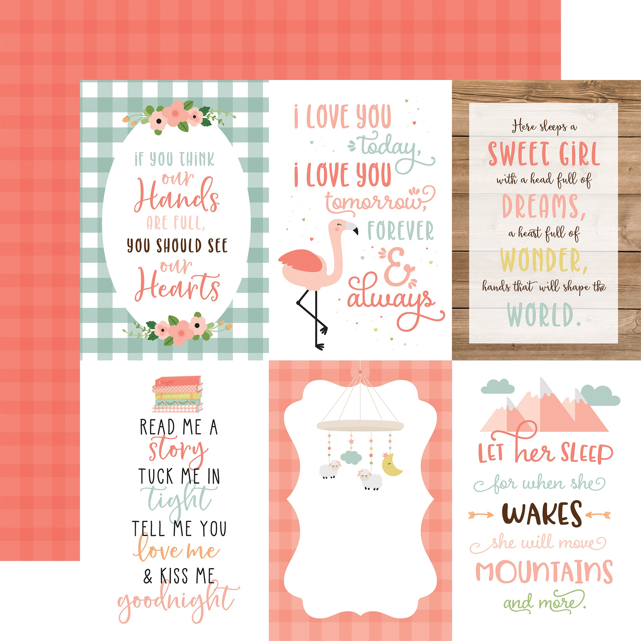 Baby Girl Double-Sided Cardstock 12X12-4X6 Journaling Cards