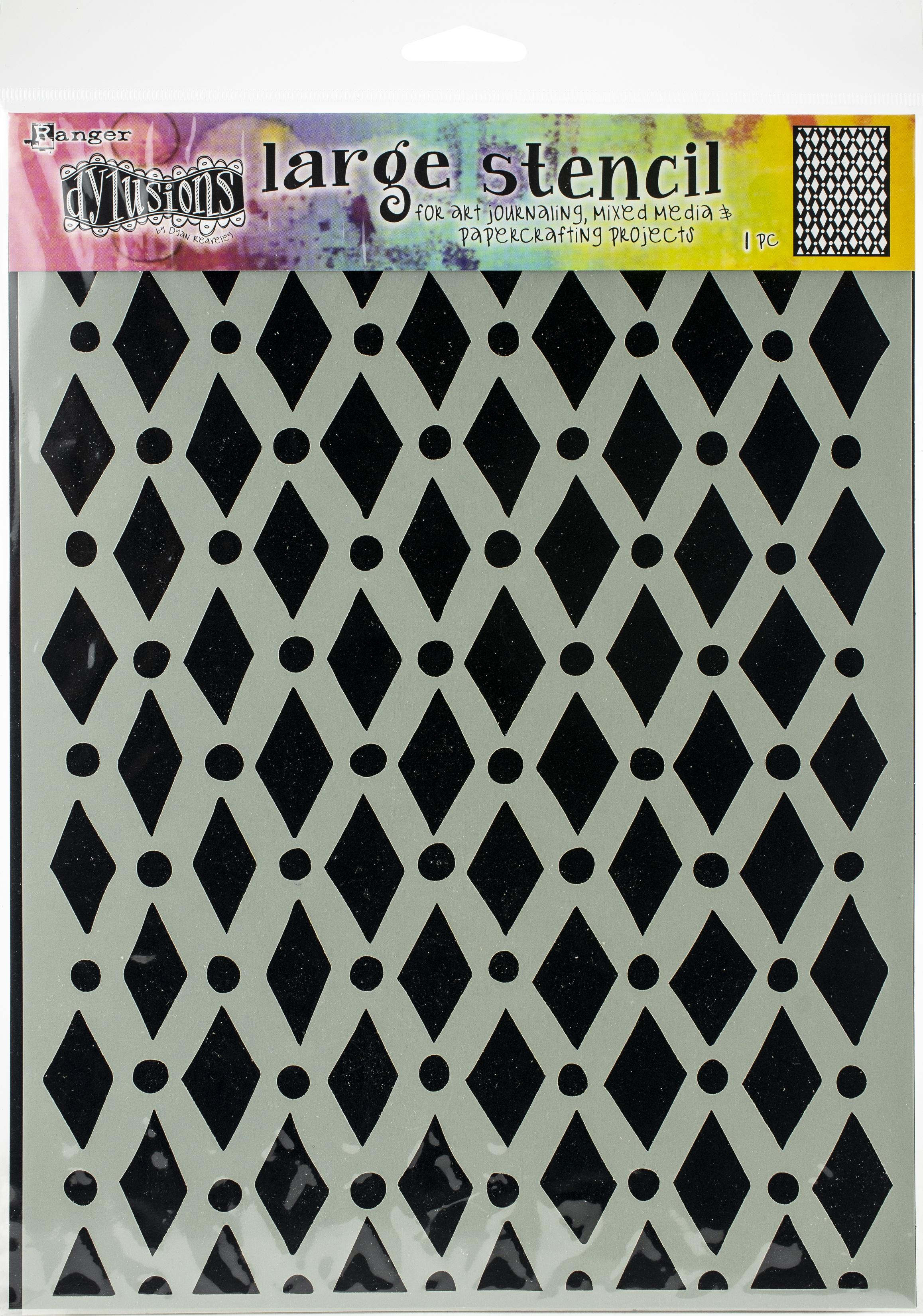 Dyan Reaveley's Dylusions Stencils 9X12-Court Jester