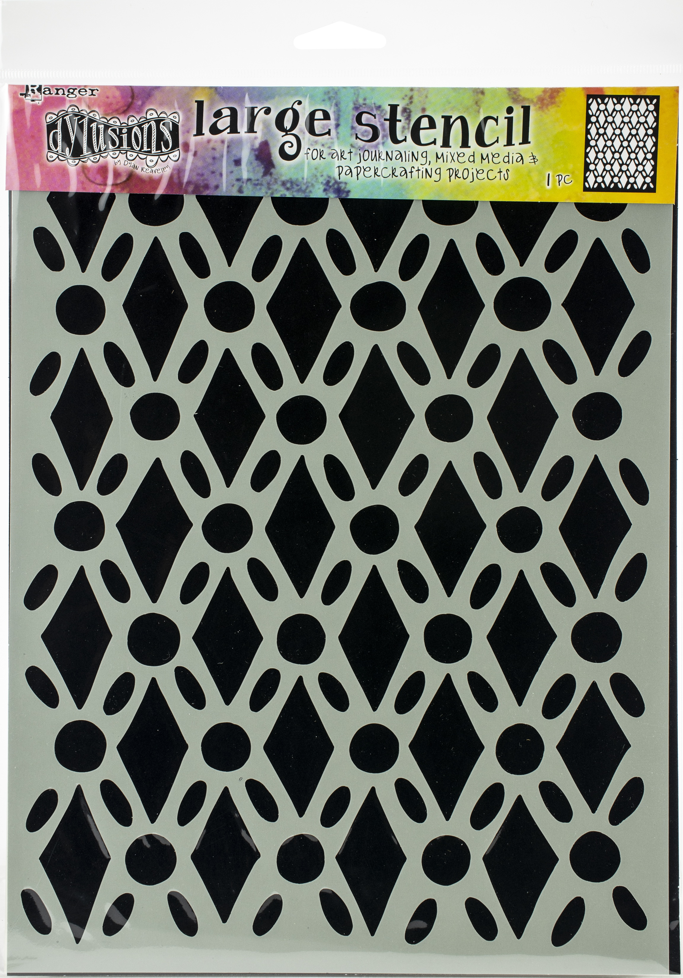 Dyan Reaveley's Dylusions Stencils 9X12-Fancy Floor