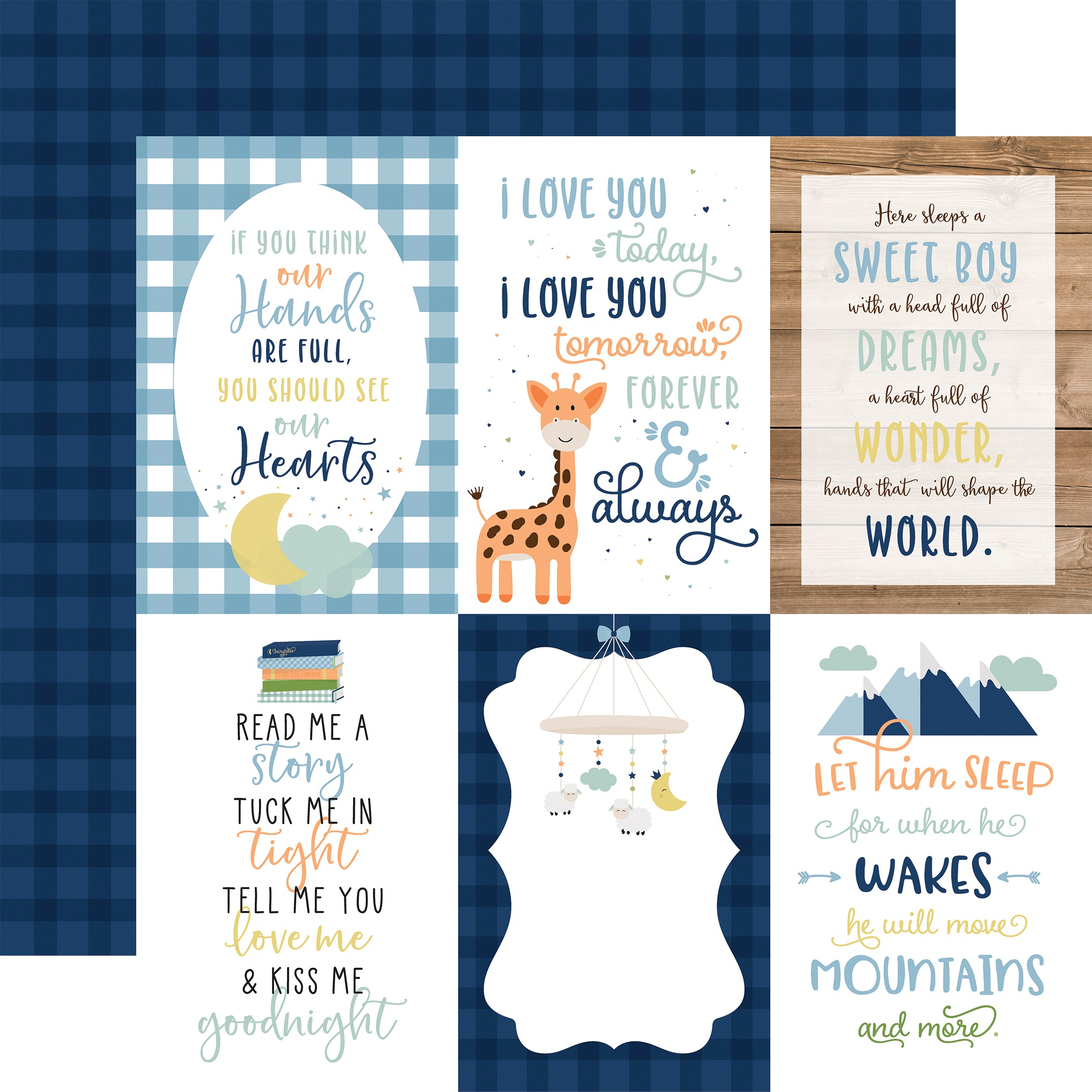 Baby Boy - 4x6 Journaling Cards