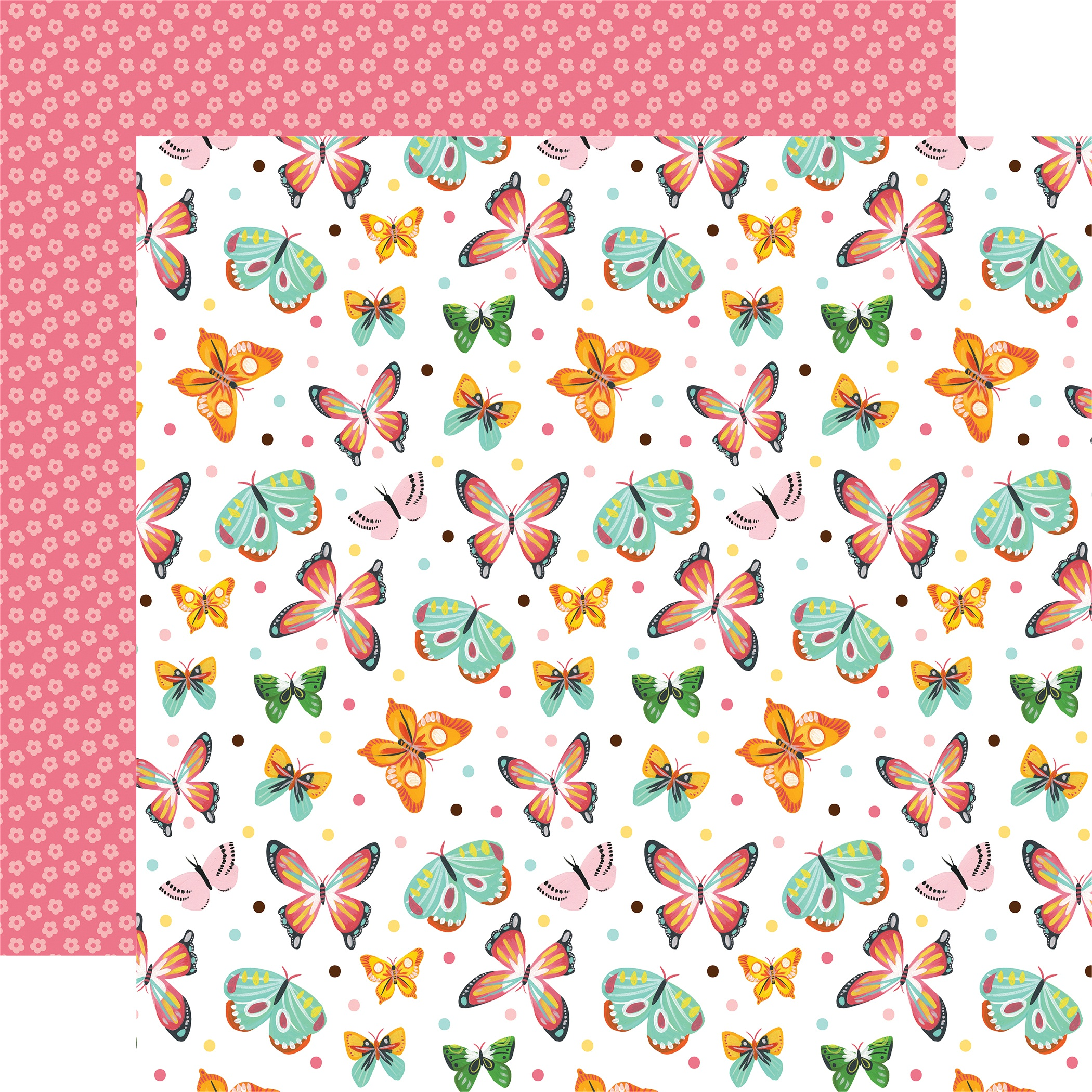 I Love Spring Double-Sided Cardstock 12X12-Blissful Butterflies