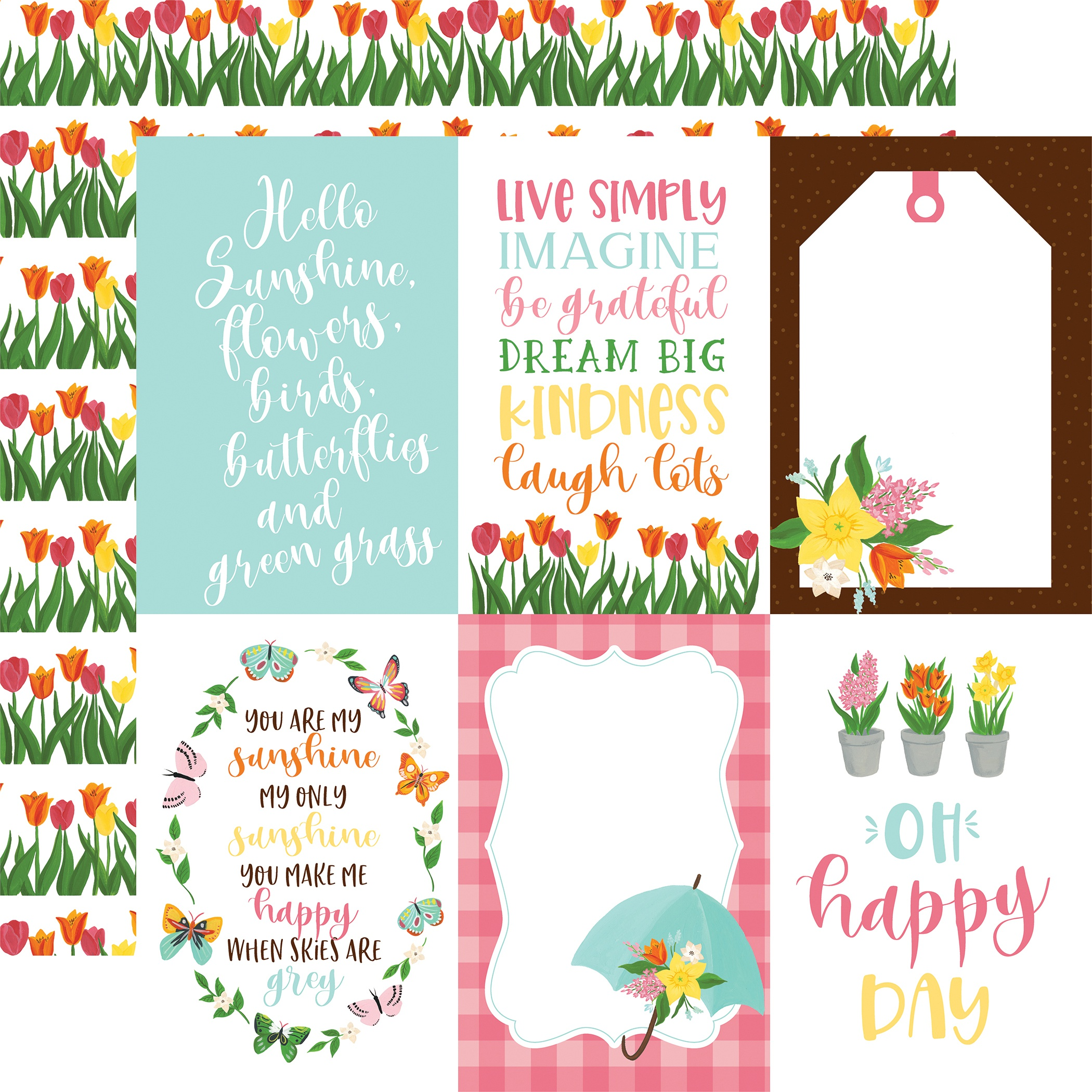 I Love Spring Double-Sided Cardstock 12X12-4X6 Journaling Cards