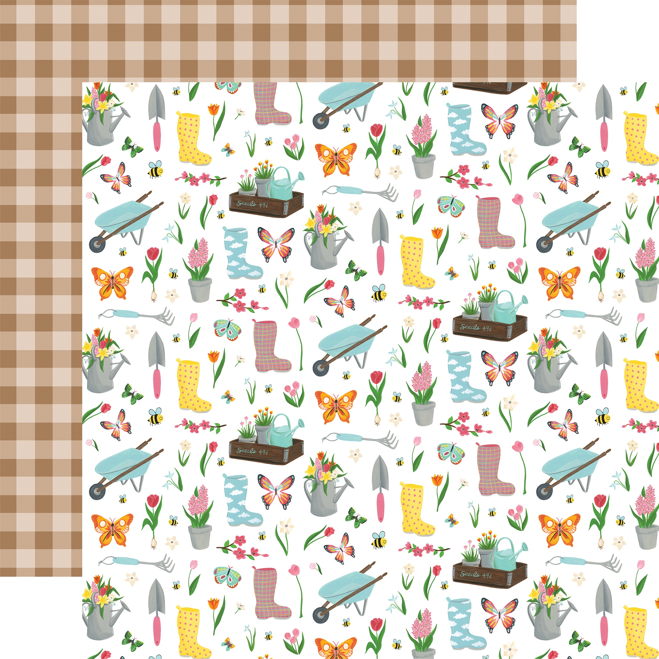 I Love Spring Double-Sided Cardstock 12X12-Garden Party