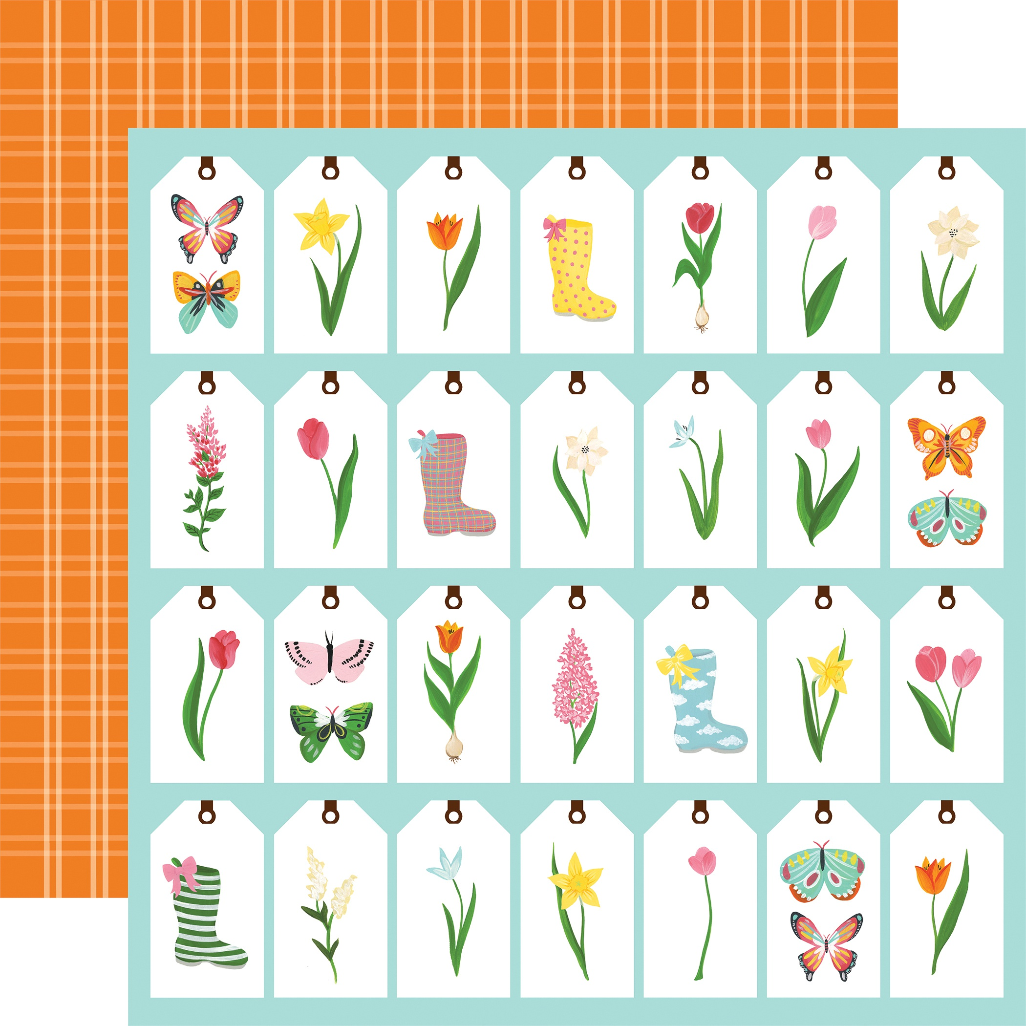 I Love Spring Double-Sided Cardstock 12X12-Spring Tags