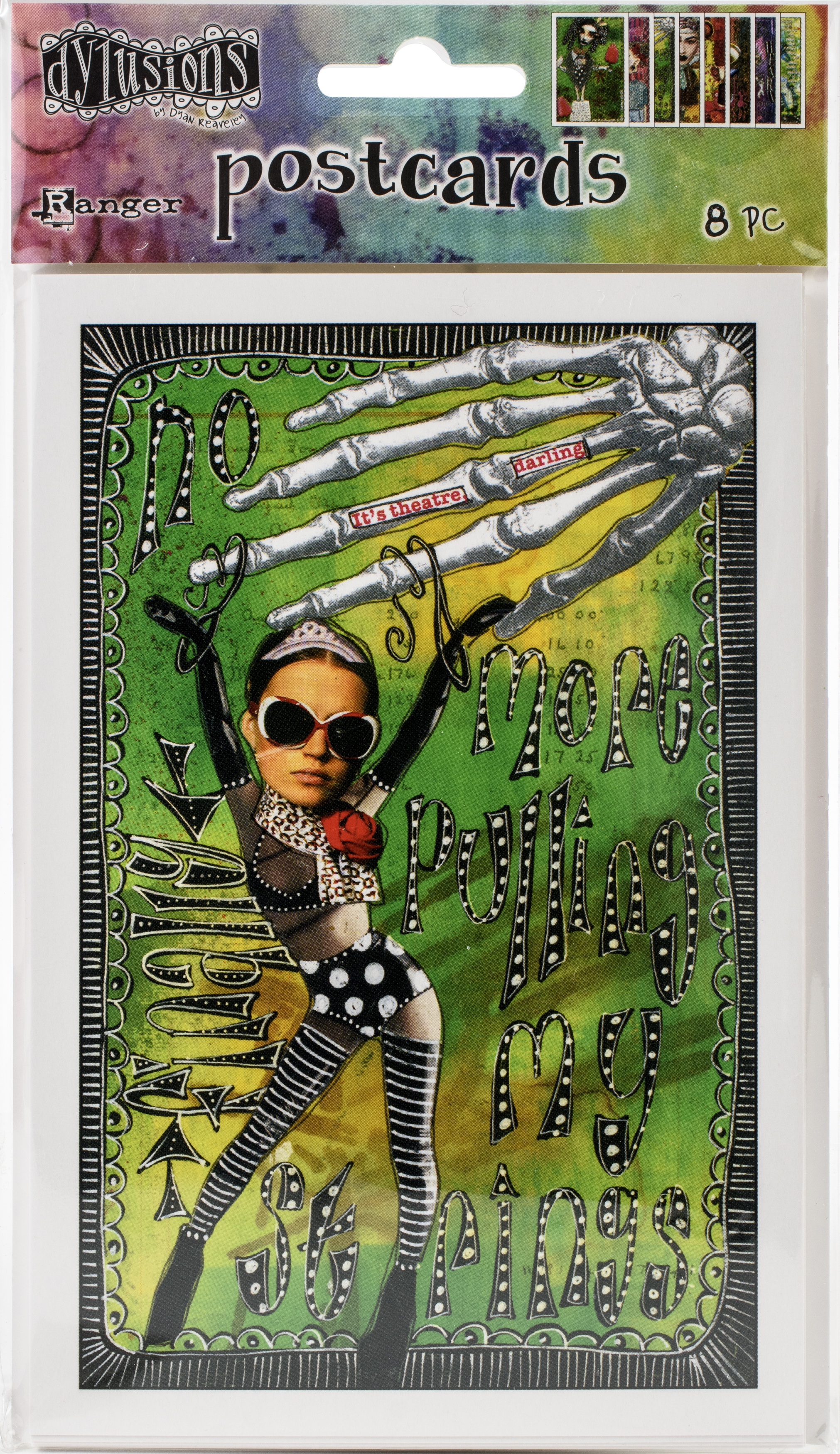 Dyan Reaveley's Dylusions Postcard Images 4X6-Set #3
