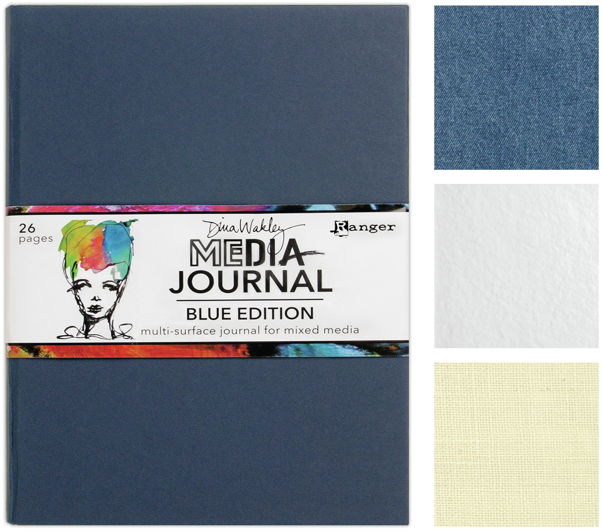 Dina Wakley Media Journal 8X10-Blue Edition