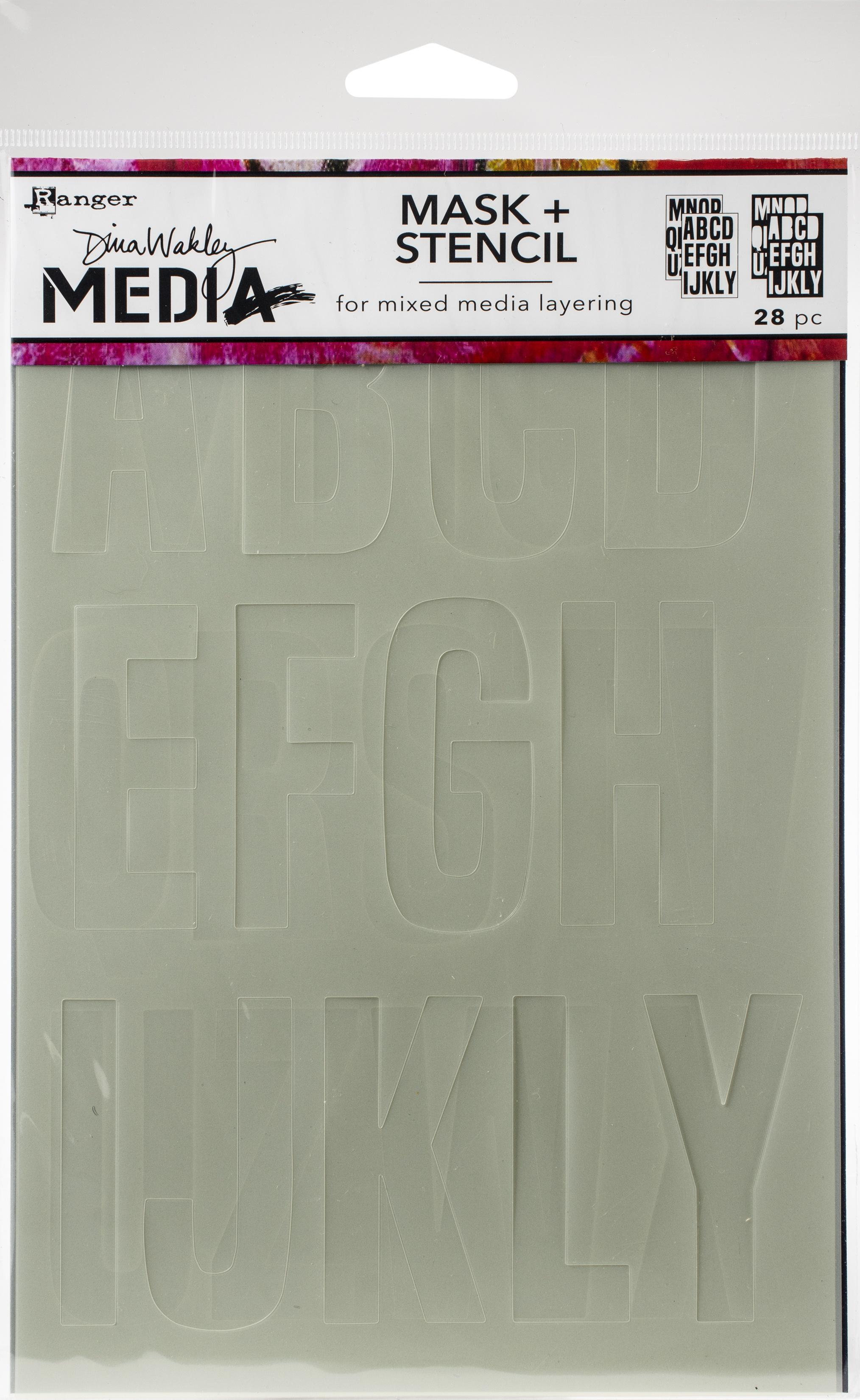 Dina Wakley Media Stencils + Masks 6X9-Alpha