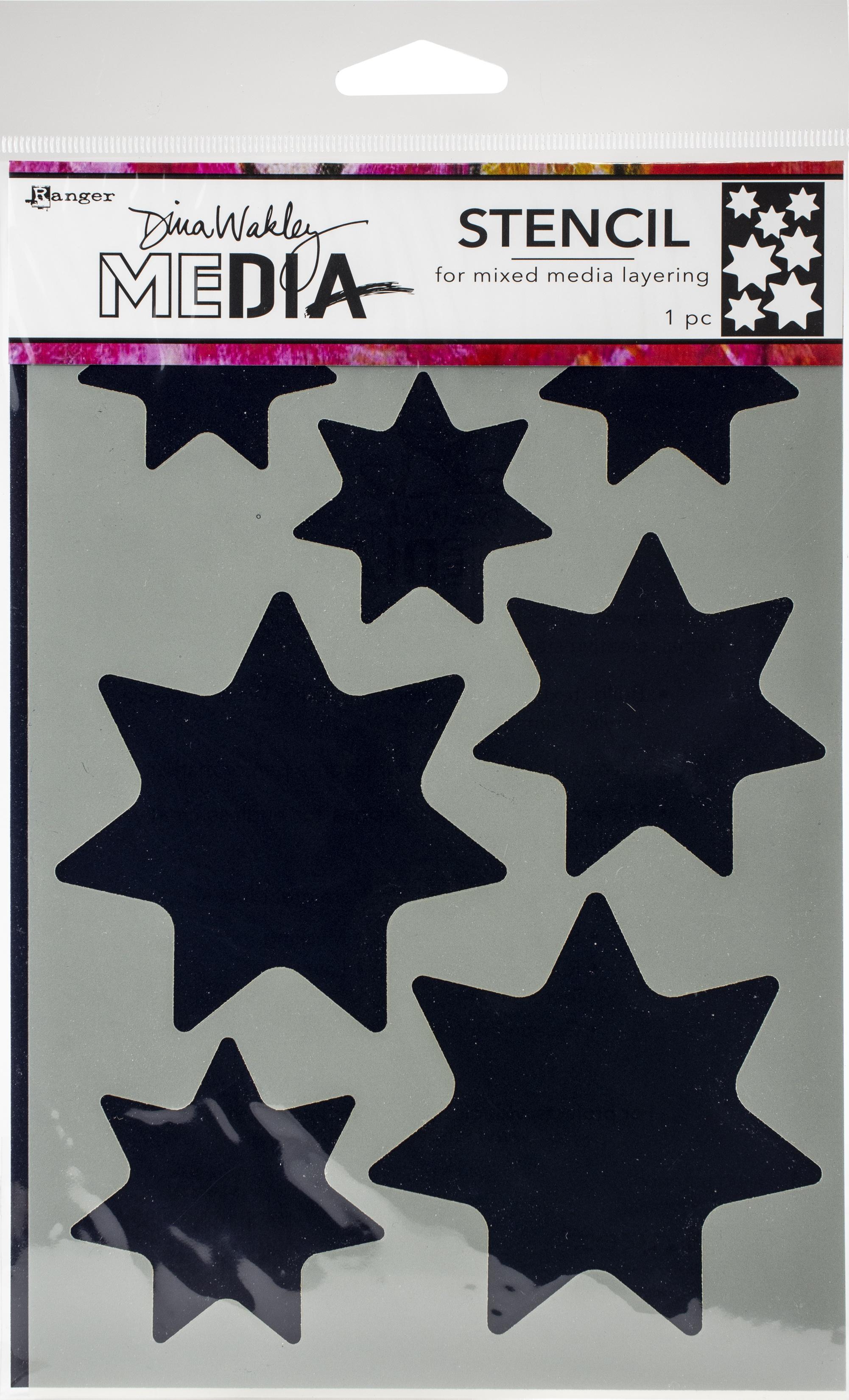 Dina Wakley Media Stencils 9X6-Giant Stars