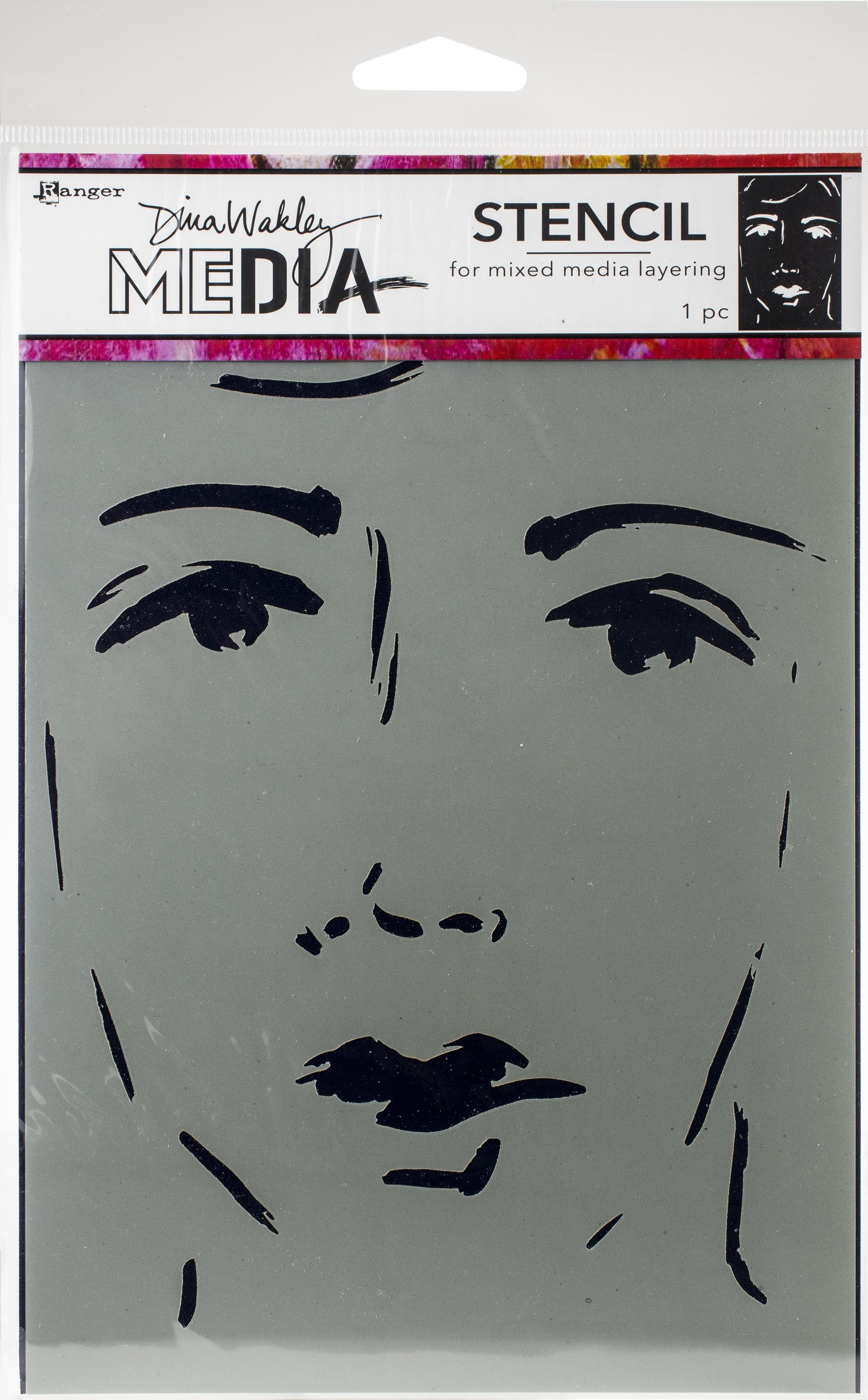 Dina Wakley Media Stencils 9X6-She Sees