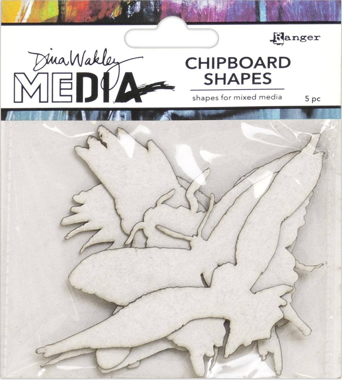Dina Wakley Media Chipboard Shapes-Flying