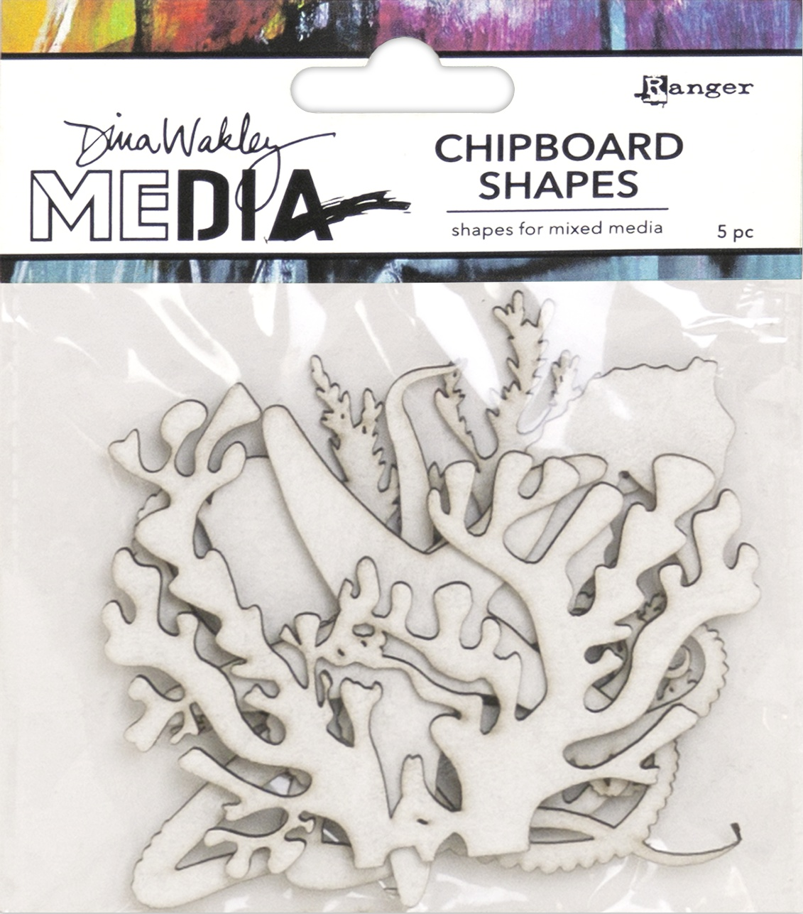 PREORDER Dina Wakley Media Chipboard Shapes-Ocean
