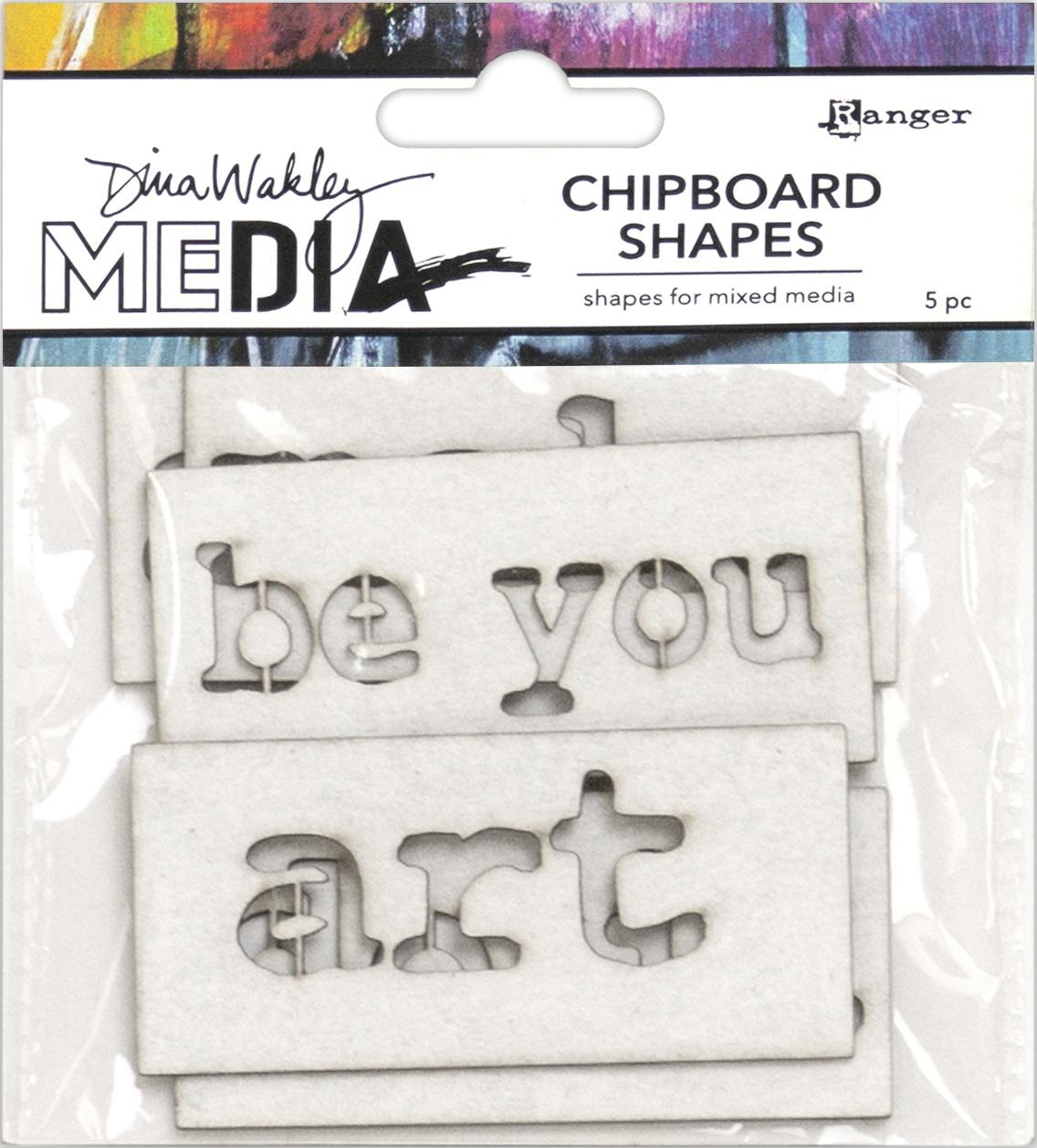 PREORDER Dina Wakley Media Chipboard Shapes-Words
