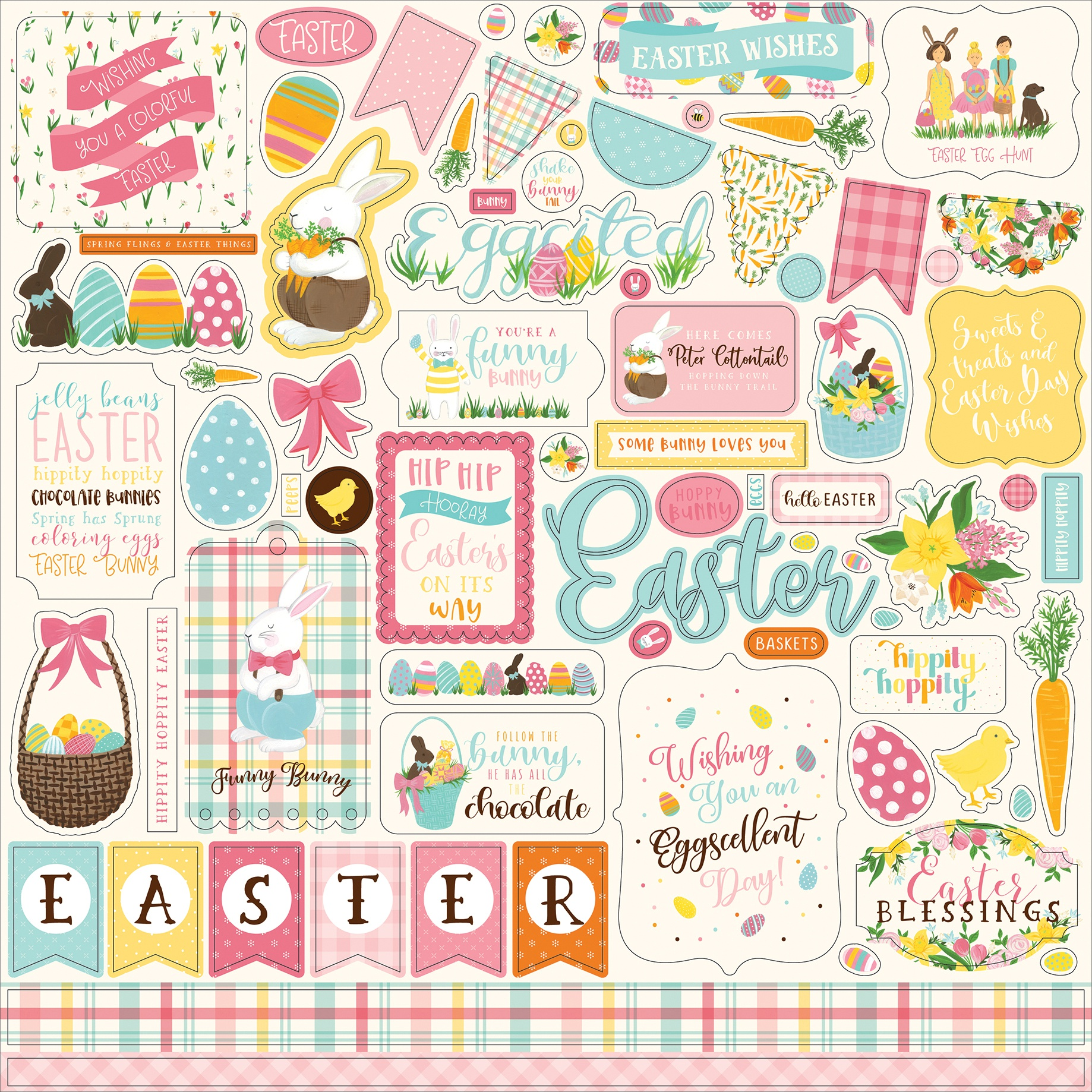 I Love Easter Element Sticker