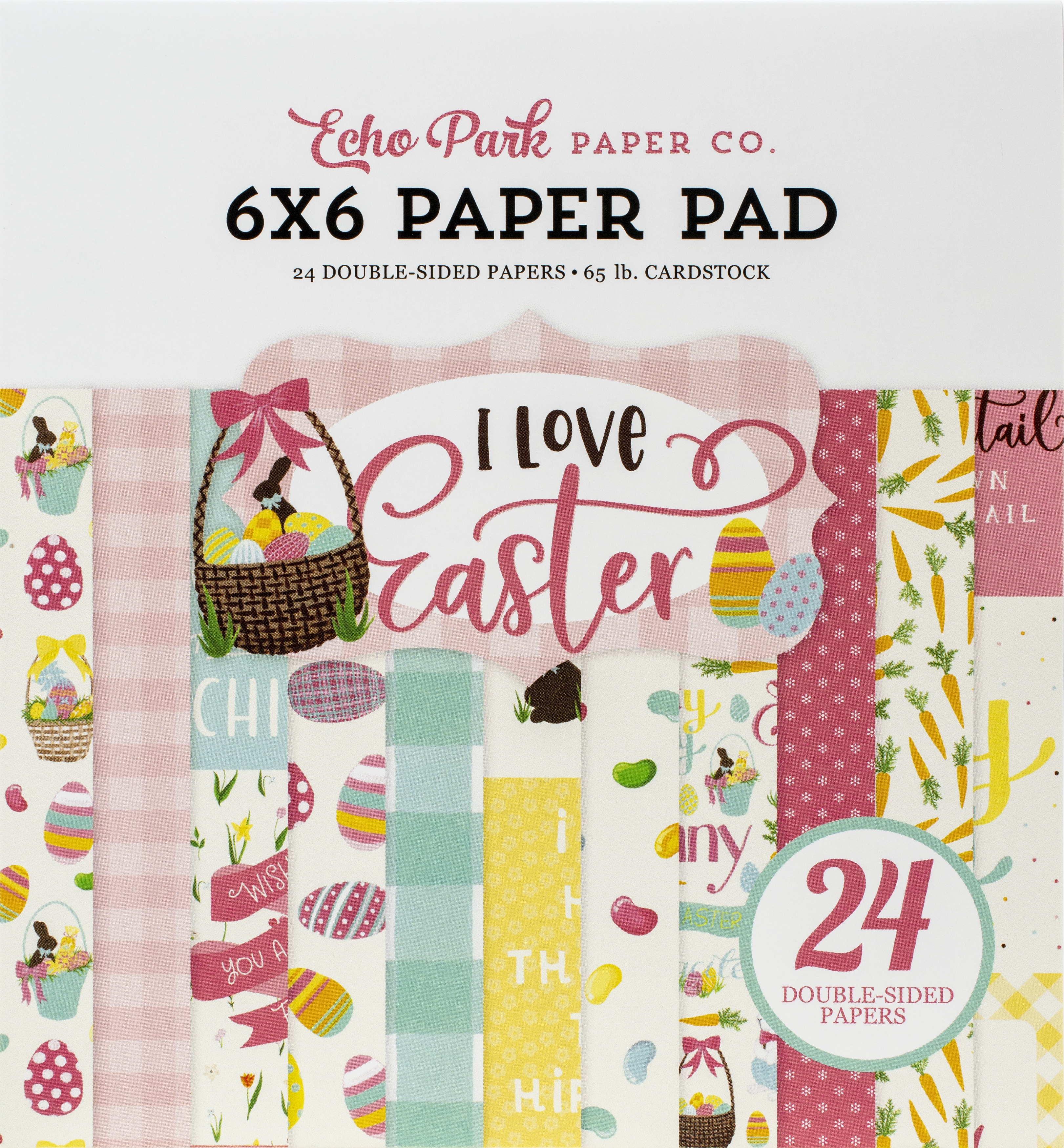 Echo Park Double-Sided Paper Pad 6X6 24/Pkg-I Love Easter