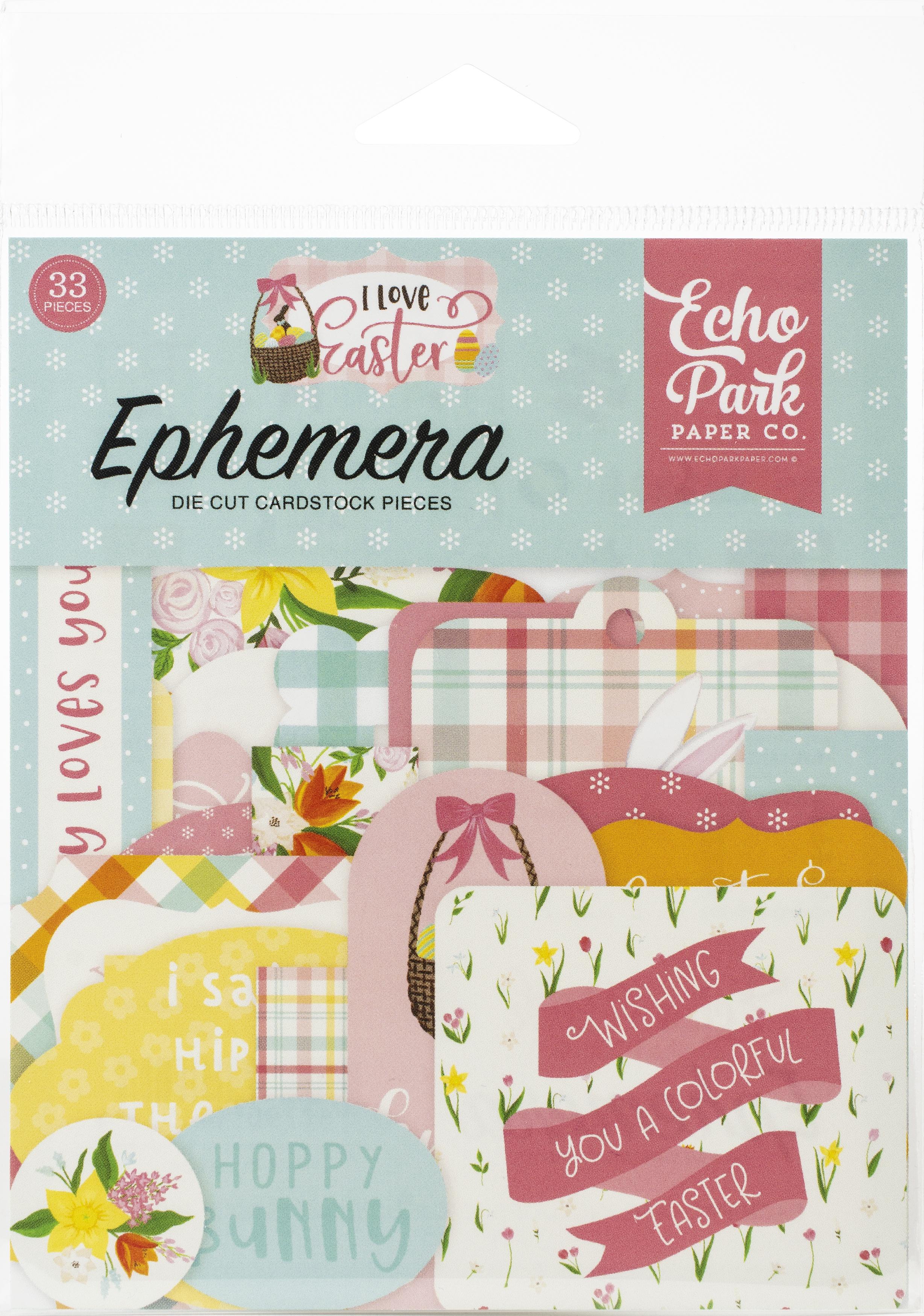 Echo Park Cardstock Ephemera 33/Pkg-I Love Easter