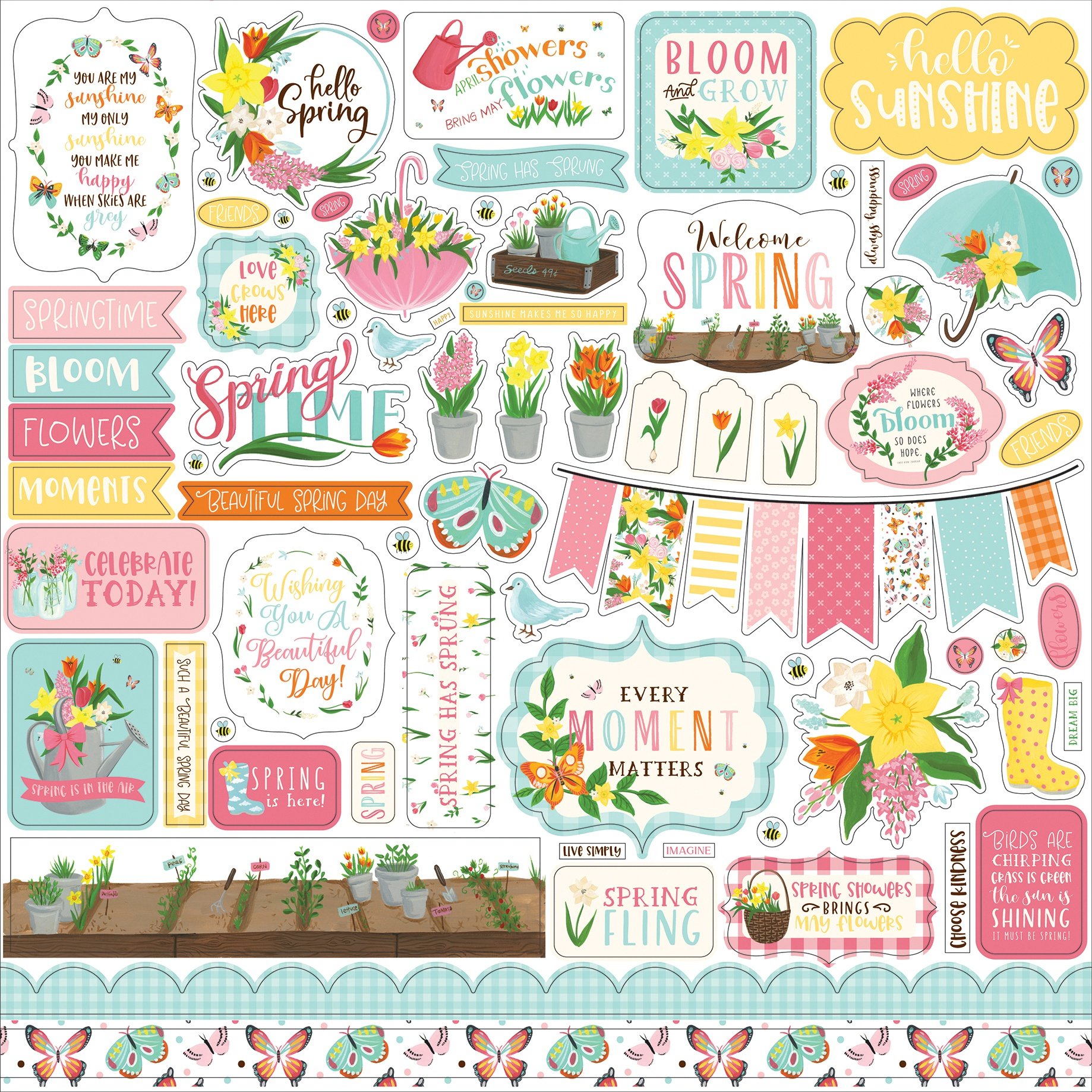 I Love Spring - Element Stickers